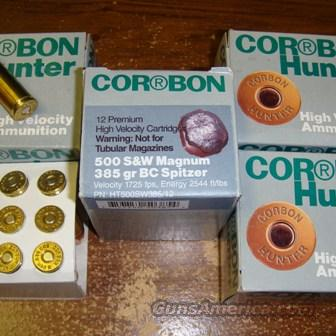 SMITH & WESSON 500 CORBON HUNTER AMMO