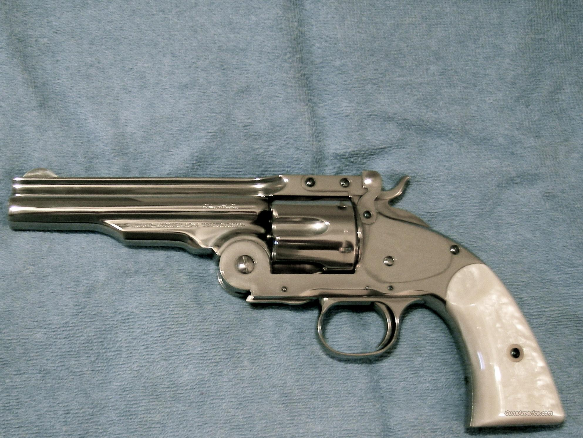 Uberti 1875 Nickel Finish Schofield   Guns > Pistols > Cowboy Action Pistol Misc.