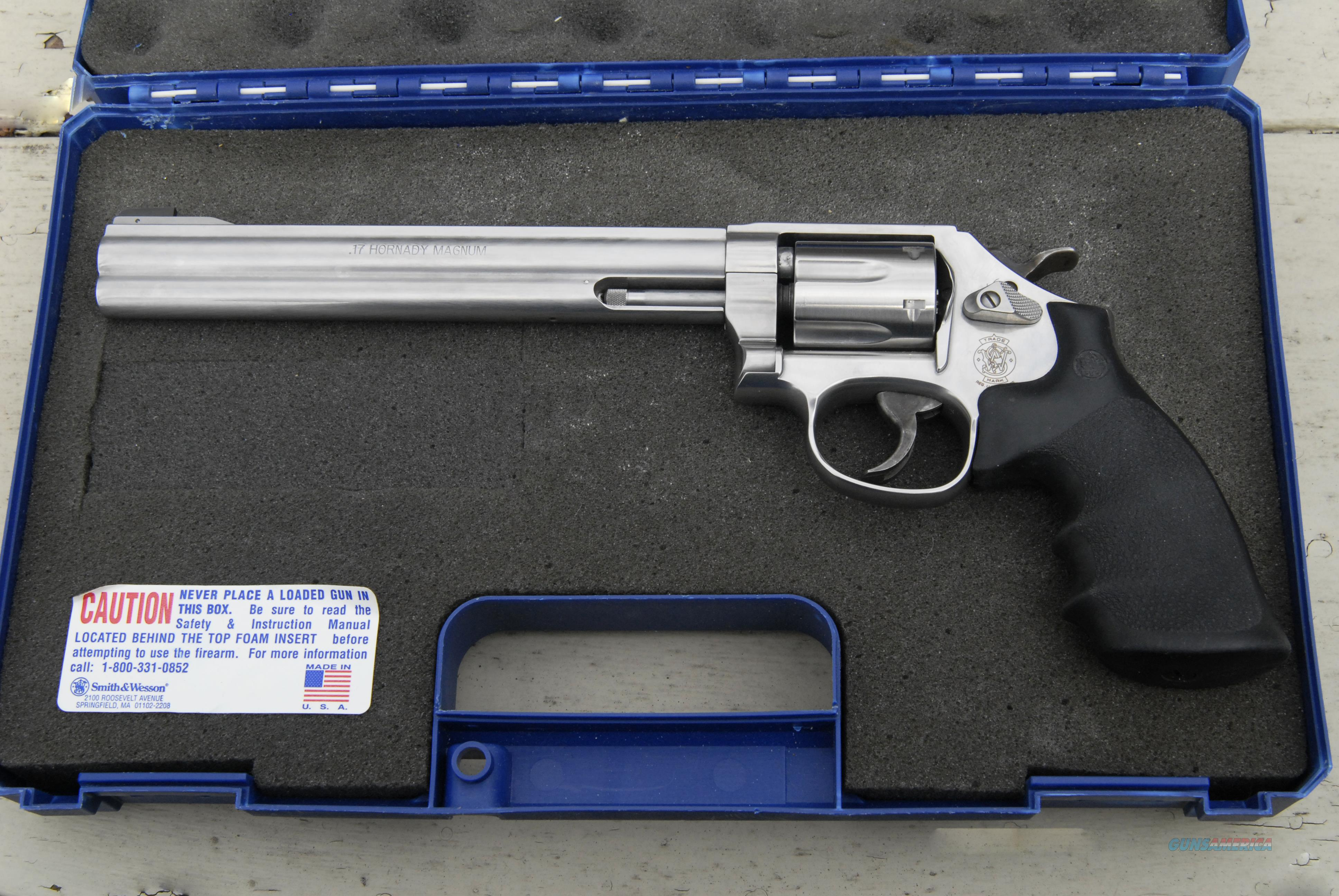 SMITH and WESSON .17HMR STAINLESS  Guns > Pistols > Smith & Wesson Revolvers > Full Frame Revolver