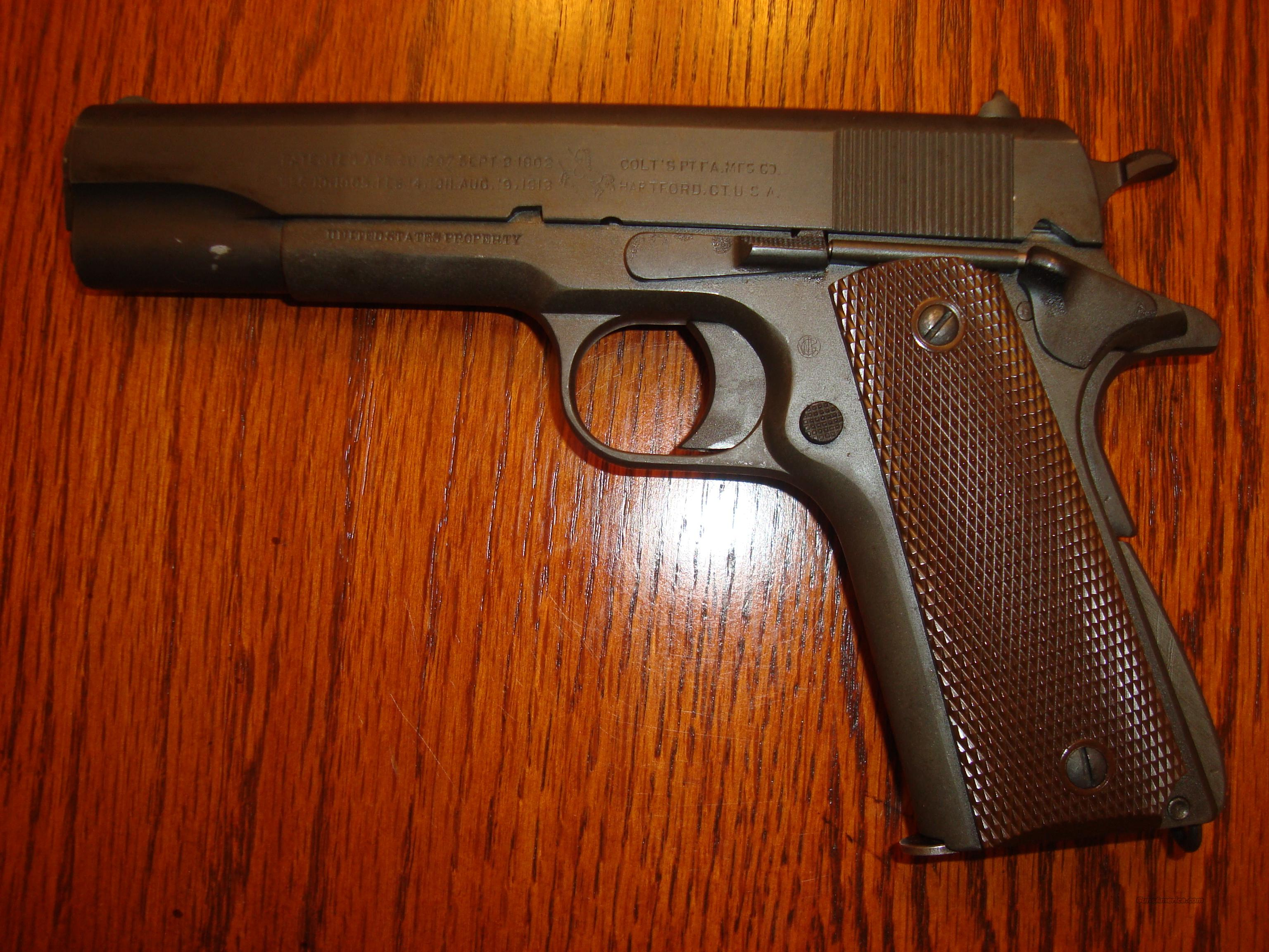 REDUCED $500!!  COLT MODEL 1911 .45 - 97% PARKERIZED FINISH, MADE IN 1914  Guns > Pistols > Colt Automatic Pistols (1911 & Var)