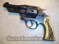 SMITH & WESSON .38 SPECIAL MODEL CTG W/STAG GRIPS & HOLSTER  Guns > Pistols > Smith & Wesson Revolvers > Full Frame Revolver