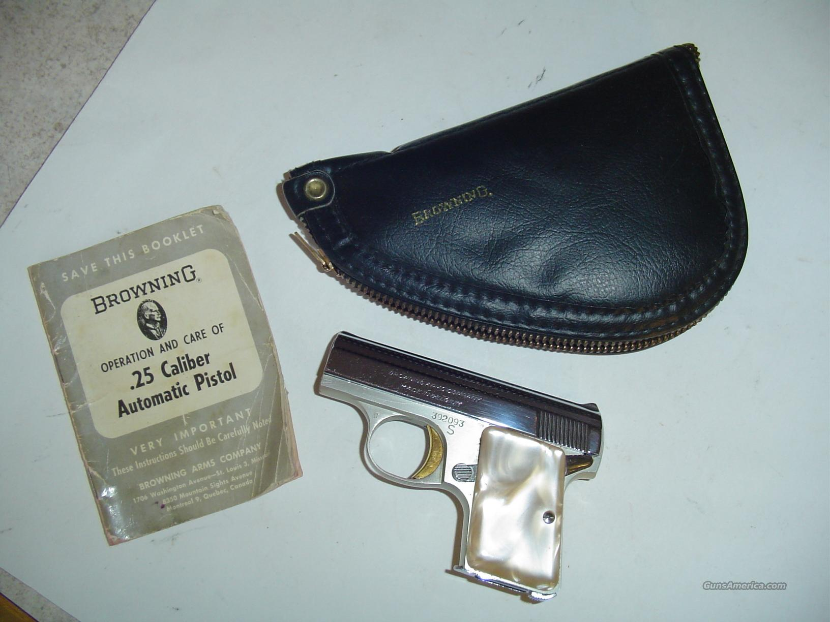 The Next Chapter: Baby Browning F&N and PSA .25 ACP