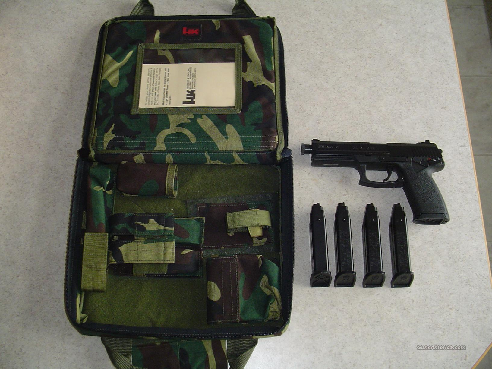 Hk mark socom new in camo bag with mags nite
