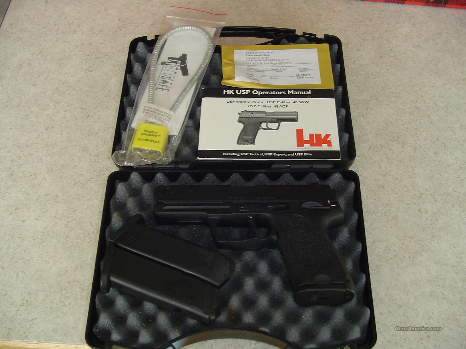 LIKE NEW HK USP 40 WITH 3 HIGH CAPACITY MAGS, CASE AND MANUAL!  Guns > Pistols > Heckler & Koch Pistols > Polymer Frame