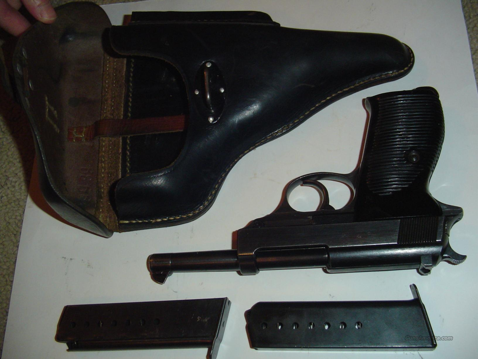 96% WALTHER P-38--COLLECTOR GRADE! WITH HOLSTER & EXTRA CLIP!!  Guns > Pistols > Walther Pistols > Pre-1945 > P-38