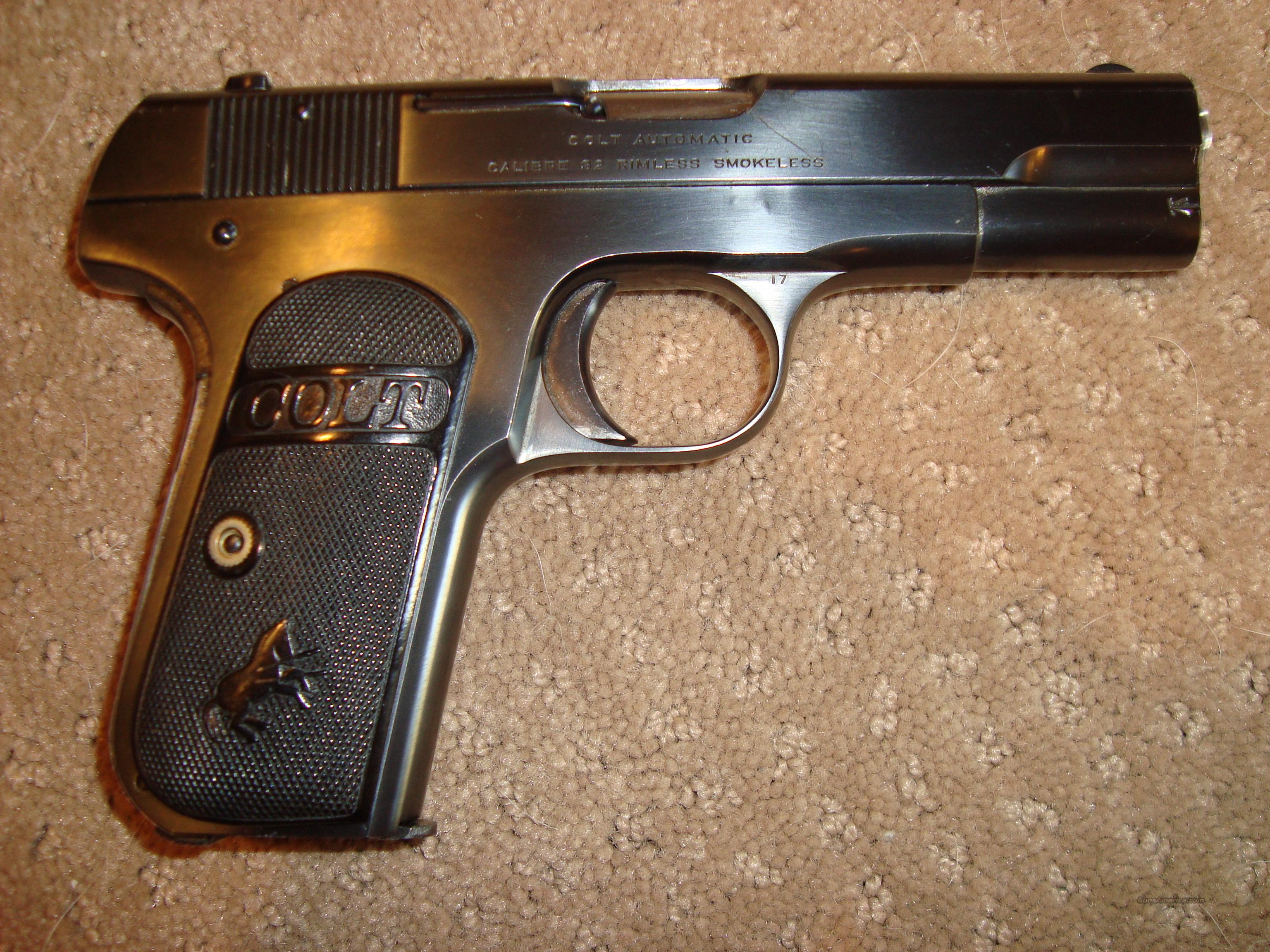 Near Mint 1903 Colt Type III - Made in 1920 - 98%  Guns > Pistols > Colt Automatic Pistols (.25, .32, & .380 cal)