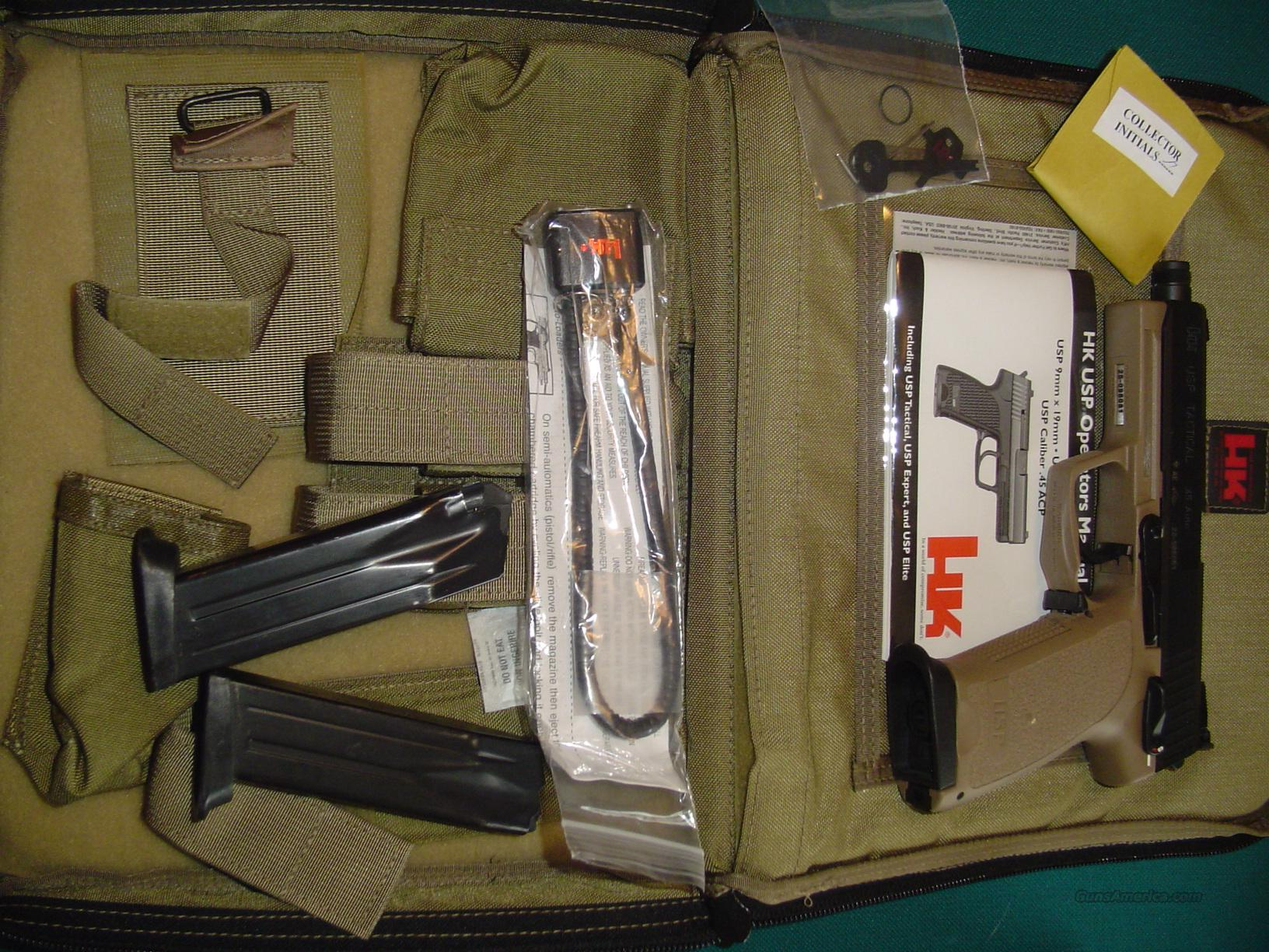 REDUCED!!!  NEW IN FACTORY BAG--RARE HK USP 45 TACTICAL DESERT TAN, MANUAL, 3 CLIPS & EXTRAS  Guns > Pistols > Heckler & Koch Pistols > Polymer Frame