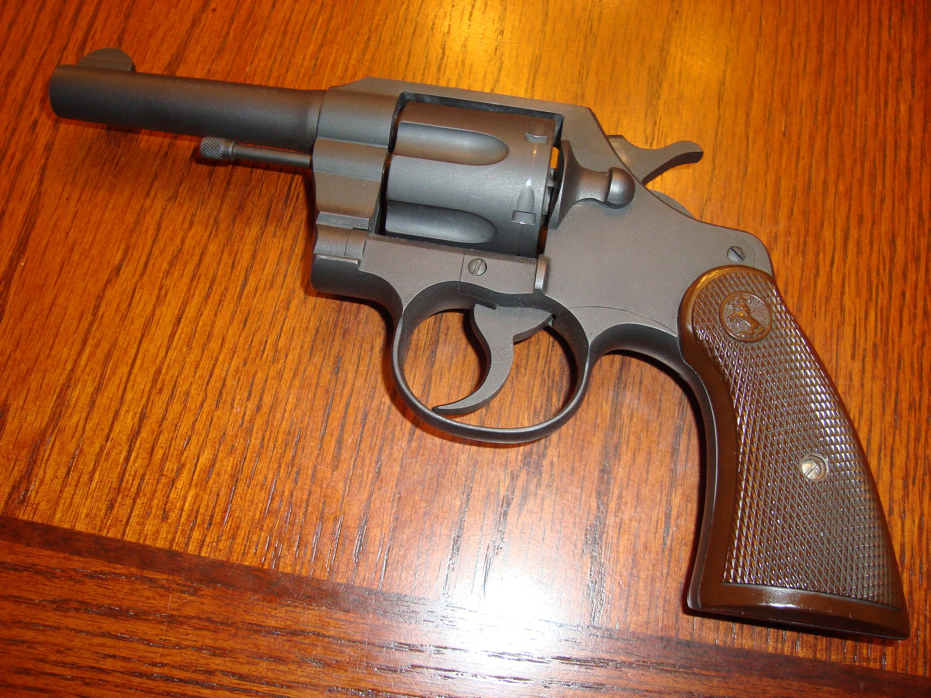 MINT COLT COMMANDO WW2 99% PARKERIZED FINISH  Guns > Pistols > Colt Double Action Revolvers- Pre-1945