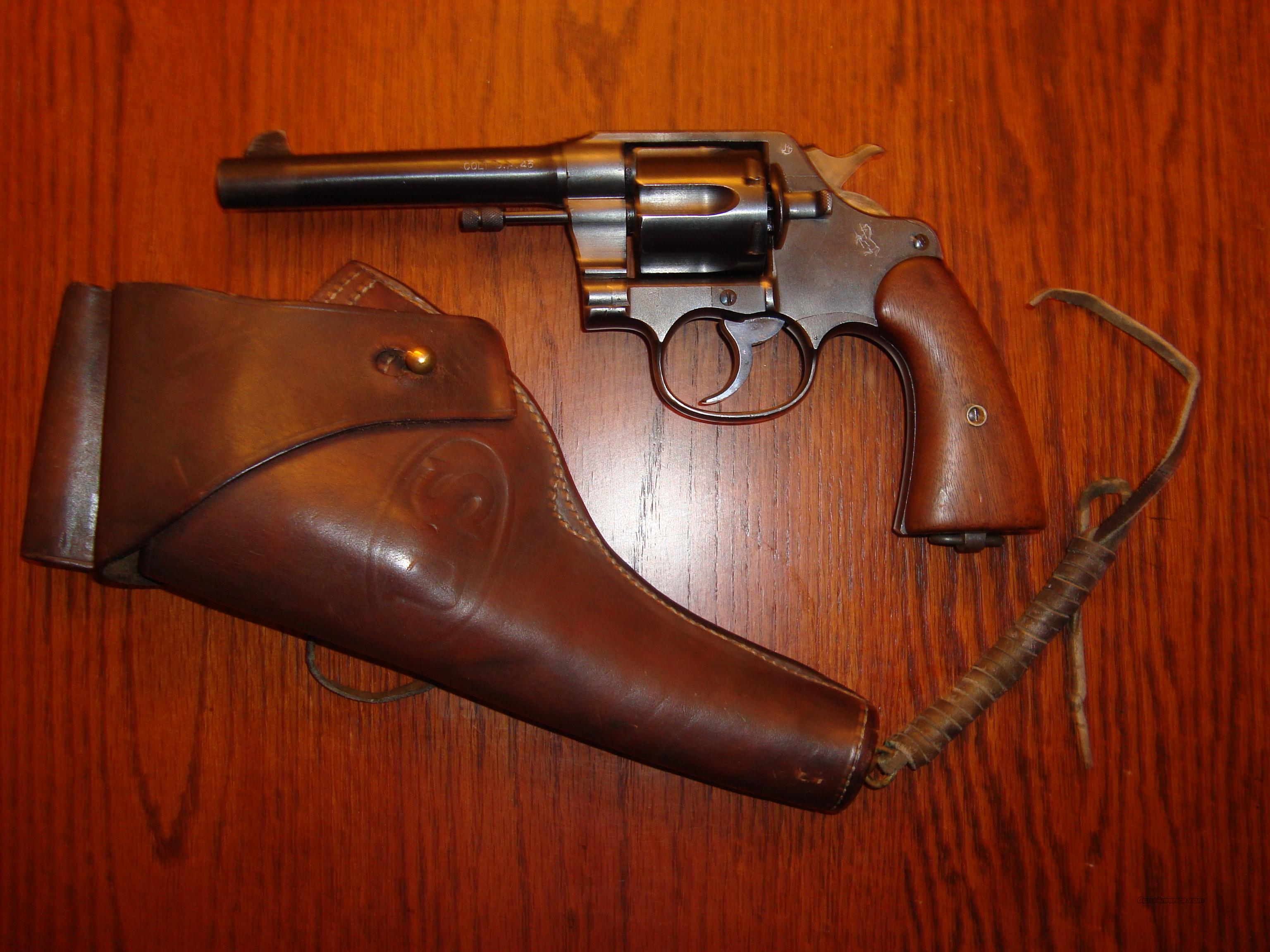 "Near Mint Colt Model 1917 Army ""United States Property"" US Holster 98% PRICE REDUCED $100!  Guns > Pistols > Colt Double Action Revolvers- Pre-1945"