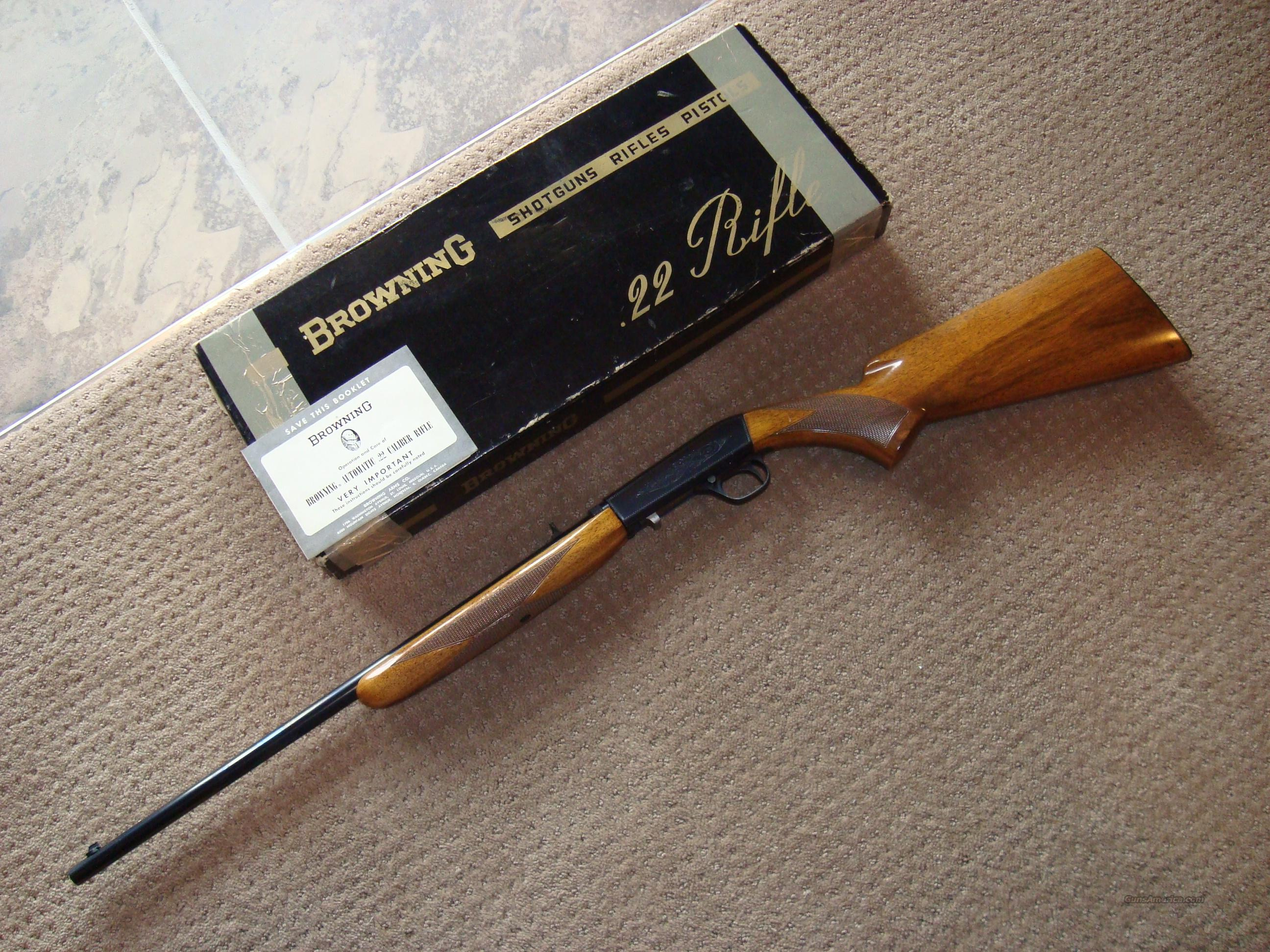 REDUCED AGAIN!!  AS NEW IN BOX - BELGIUM BROWNING SEMI AUTOMATIC 22 LR RIFLE W/MANUAL  Guns > Rifles > Browning Rifles > Semi Auto > Hunting