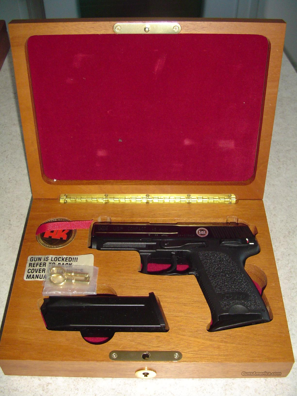 NEW IN BOX HK USP COMPACT 45 - 50TH ANNIVERSARY 1 OF 1000 MADE W/CASED WOODEN BOX  Guns > Pistols > Heckler & Koch Pistols > Polymer Frame