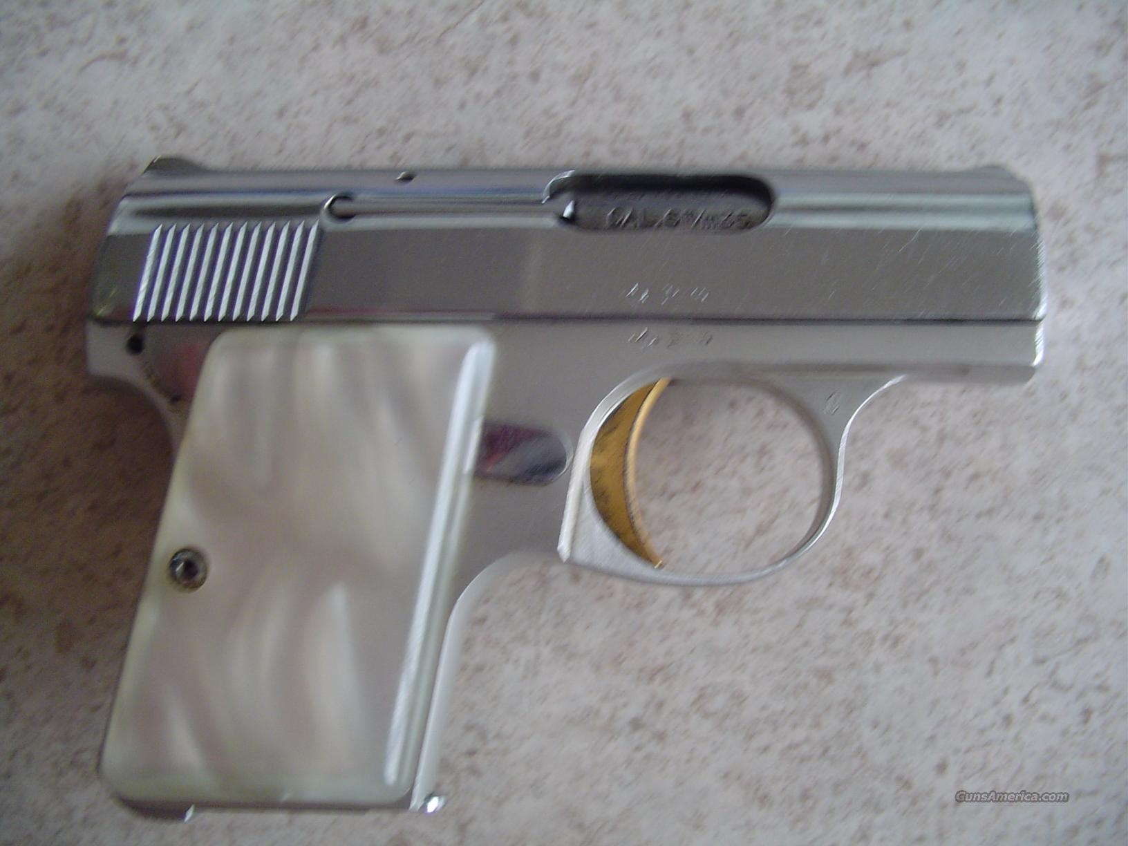 VERY NICE NICKEL BABY BROWNING MADE IN BELGIUM!! PEARL GRIPS!  Guns > Pistols > Browning Pistols > Baby Browning