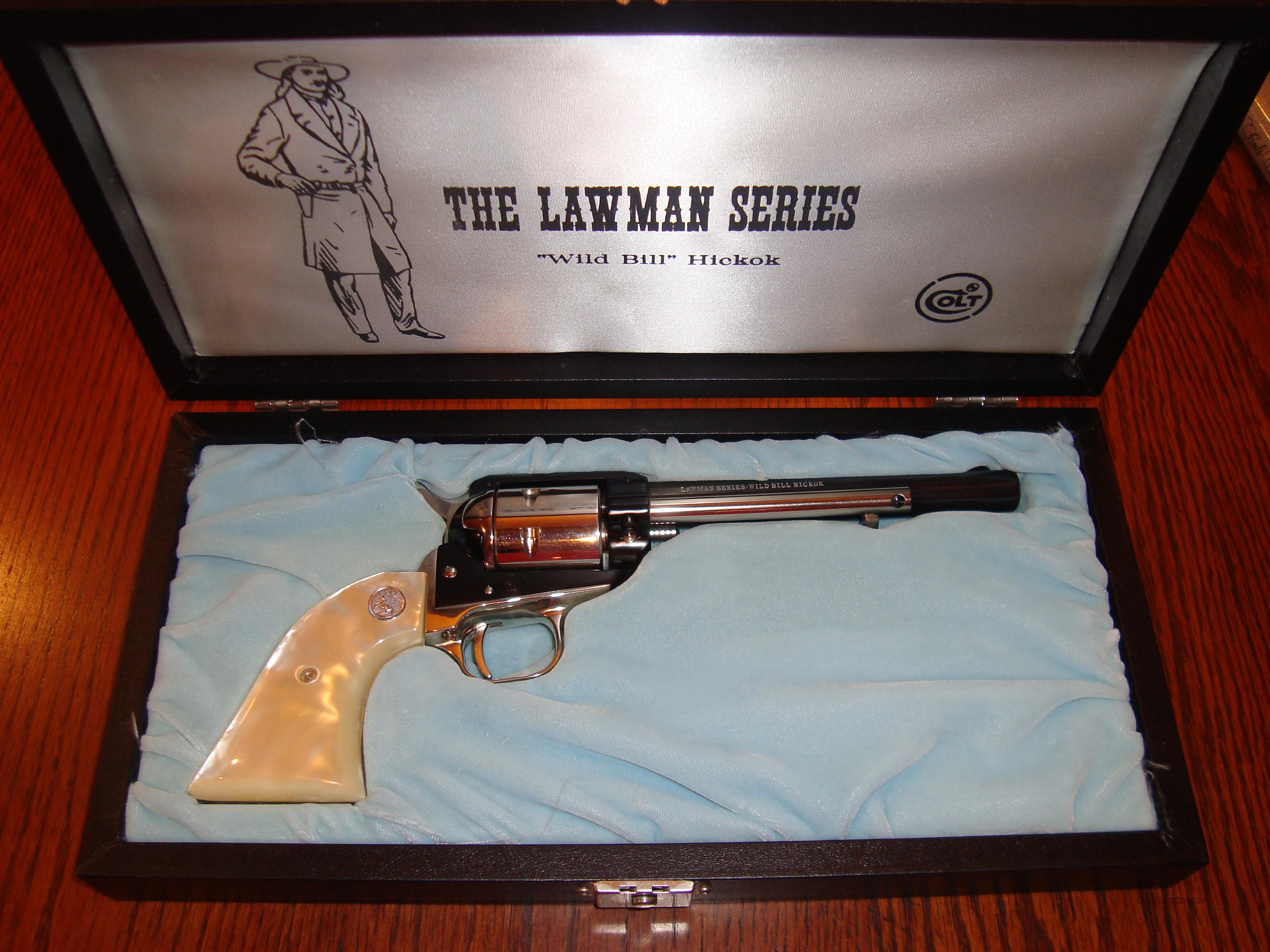 "REDUCED!!  WILD BILL HICKOK ""LAWMAN SERIES"" COLT COMMEMORATIVE 22 LR  Guns > Pistols > Colt Commemorative Pistols"