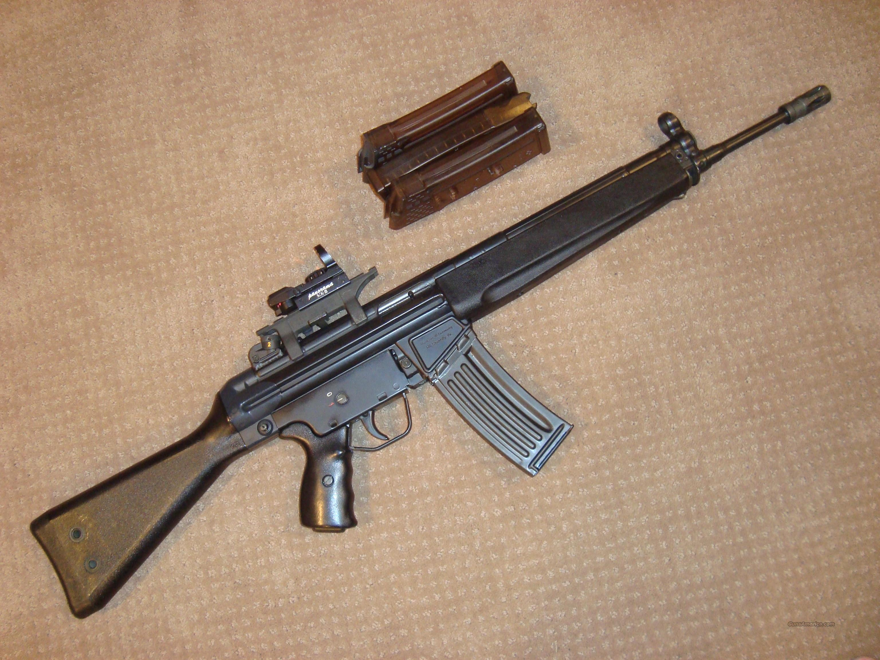 REDUCED $200!!   LIKE NEW HK 93 PRE-BAN WITH 4 MAGS, SCOPE WITH CLAW MOUNT  Guns > Rifles > Heckler & Koch Rifles > Tactical