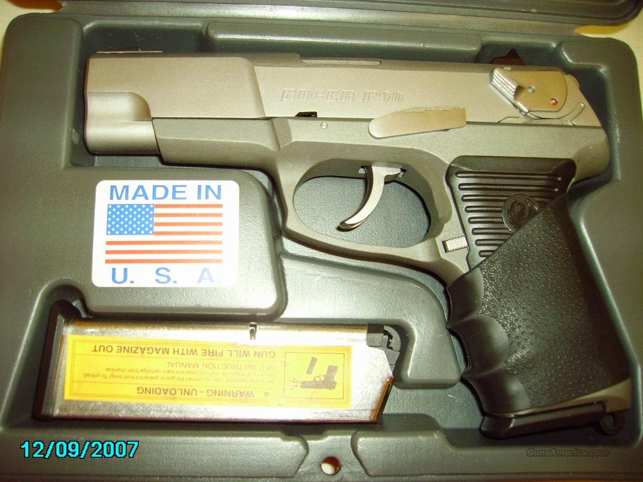 Ruger P90 Stainless .45 ACP   Guns > Pistols > Ruger Semi-Auto Pistols > Full Frame Autos