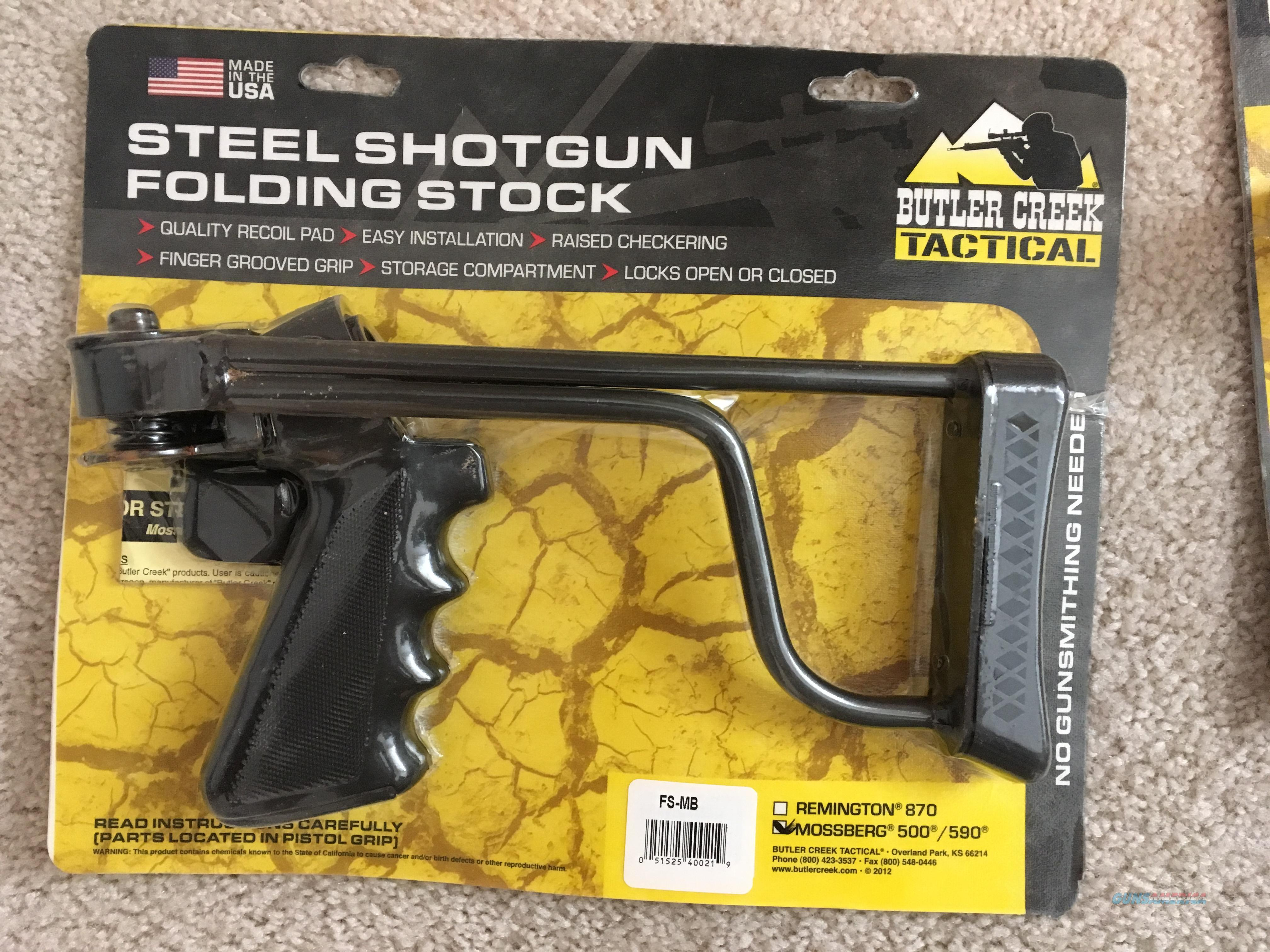 Butler Creek Folding Stock for Mossberg 500/590  Non-Guns > Gunstocks, Grips & Wood