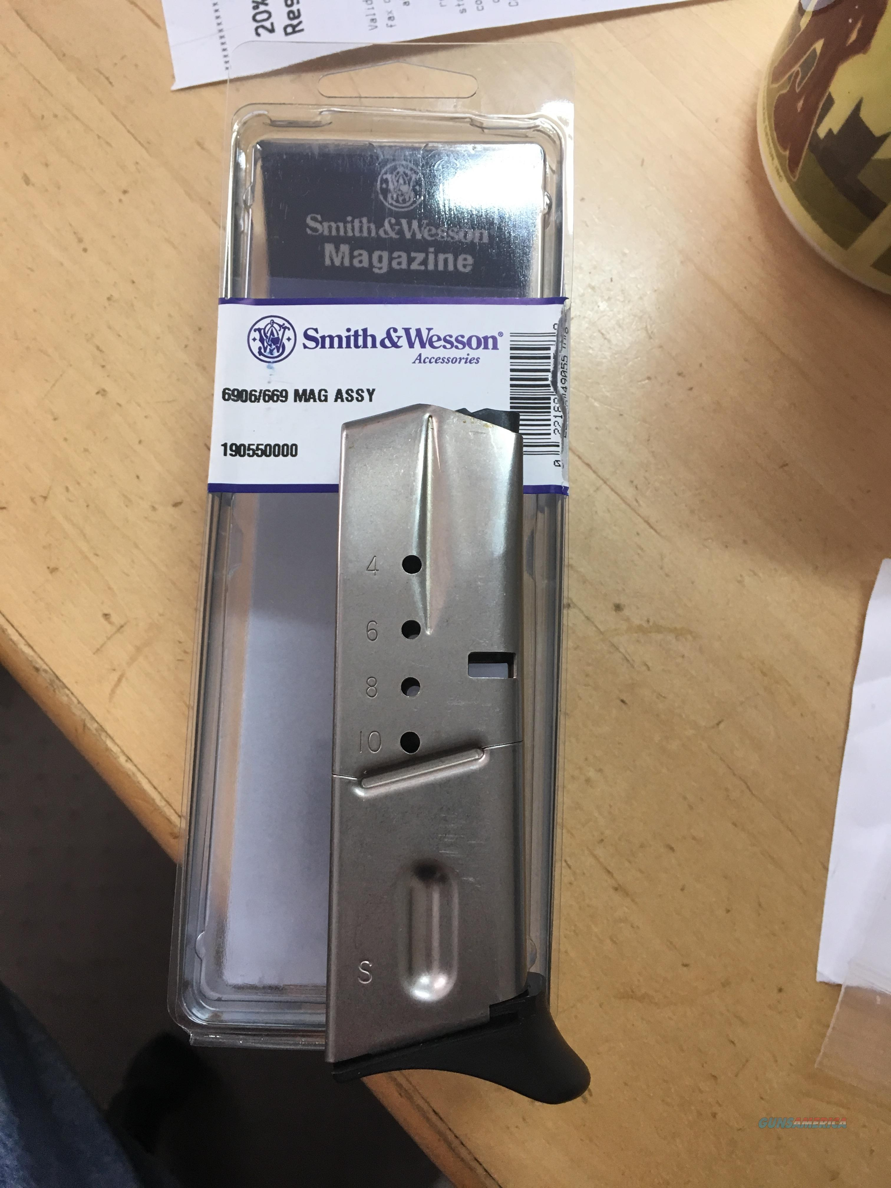 NEW FACTORY SMITH & WESSON 6906 9mm 10 rd magazines  Non-Guns > Magazines & Clips > Pistol Magazines > Smith & Wesson