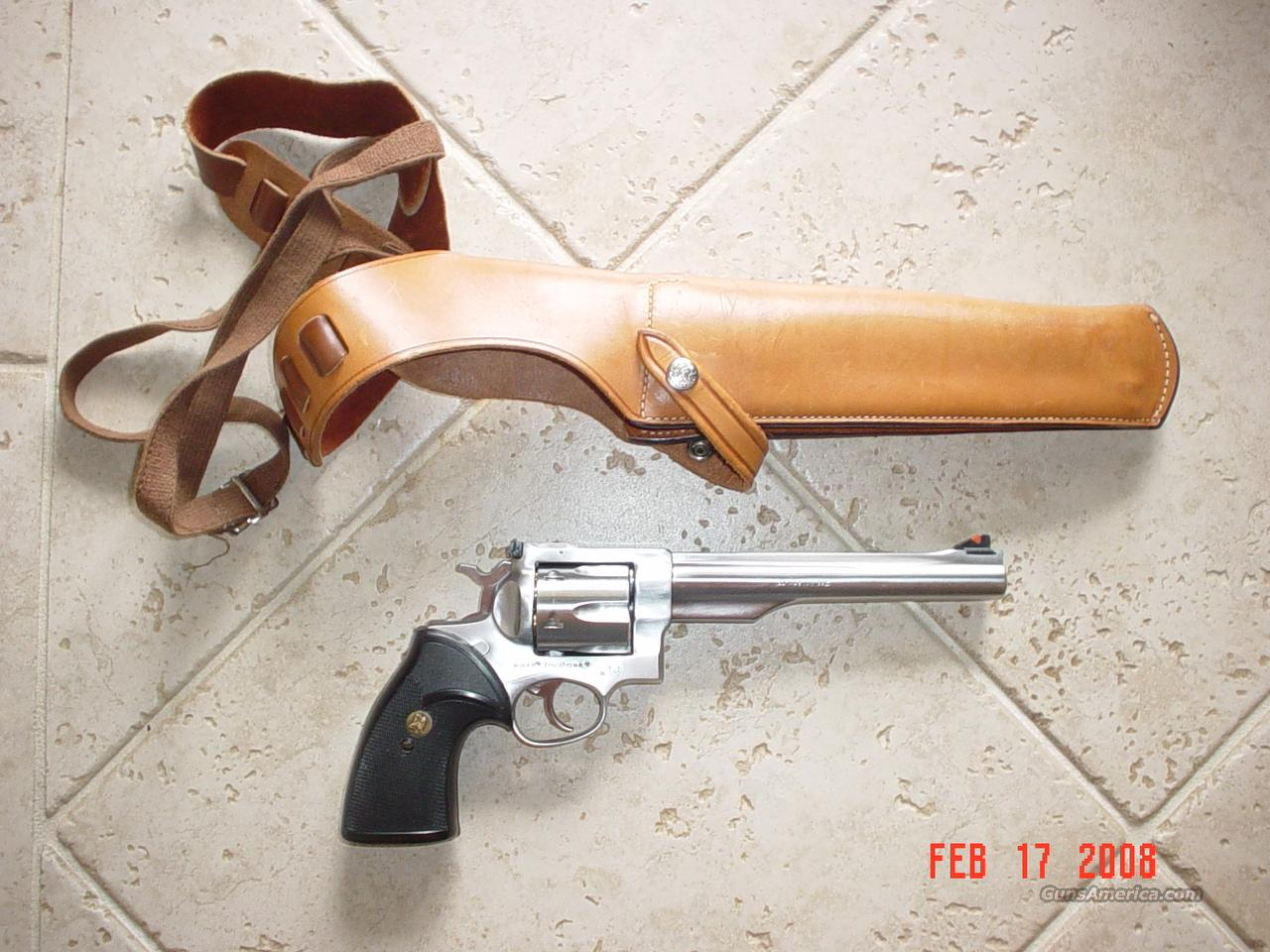 "Ruger Redhawk 44 Mag, 7-1/2"" Bbl, Stainless w/ holster, grip  Guns > Pistols > Ruger Double Action Revolver > Redhawk Type"