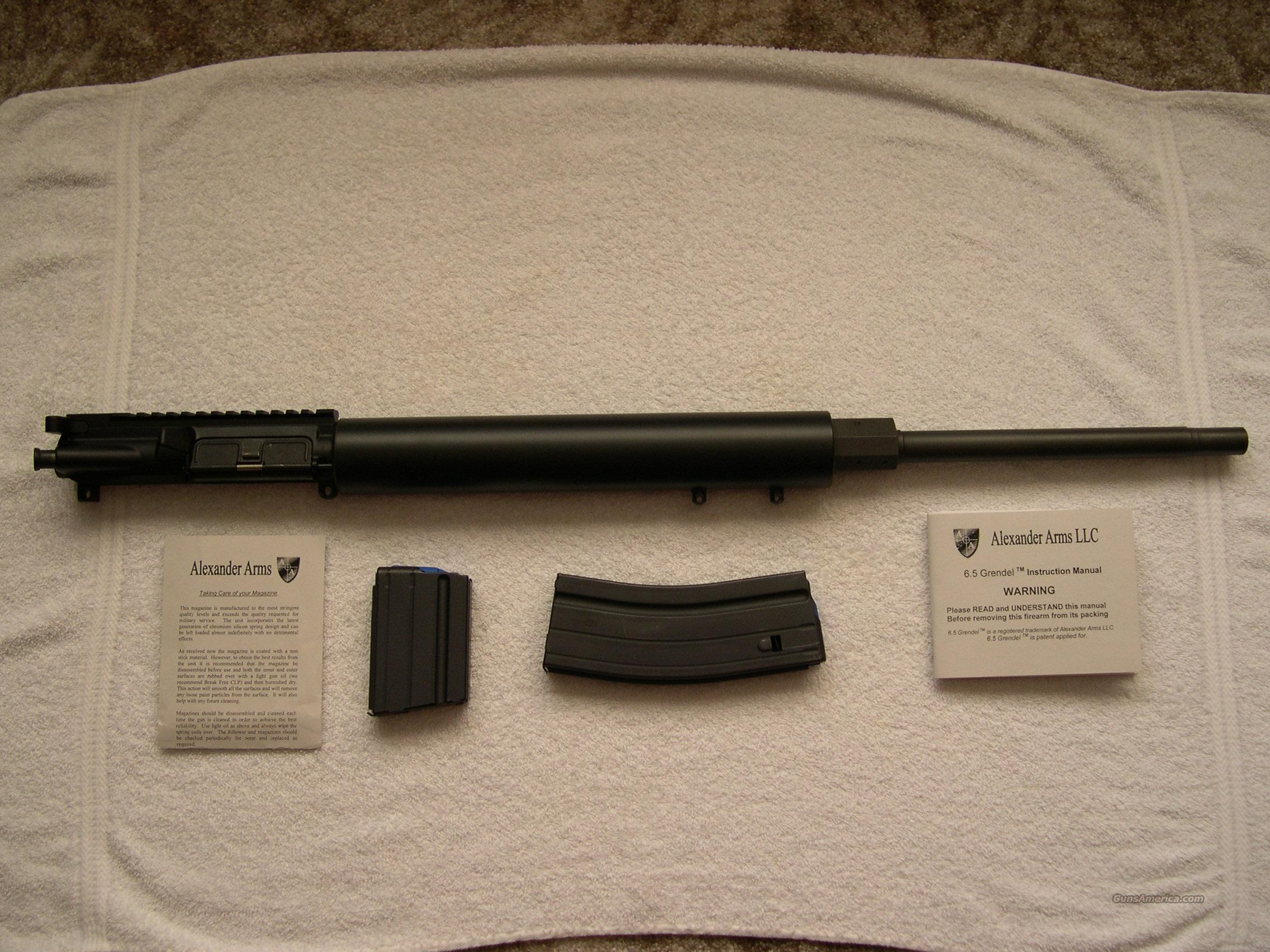 Alexander Arms 6.5 Grendel Overwatch Upper  Guns > Rifles > AR-15 Rifles - Small Manufacturers > Upper Only