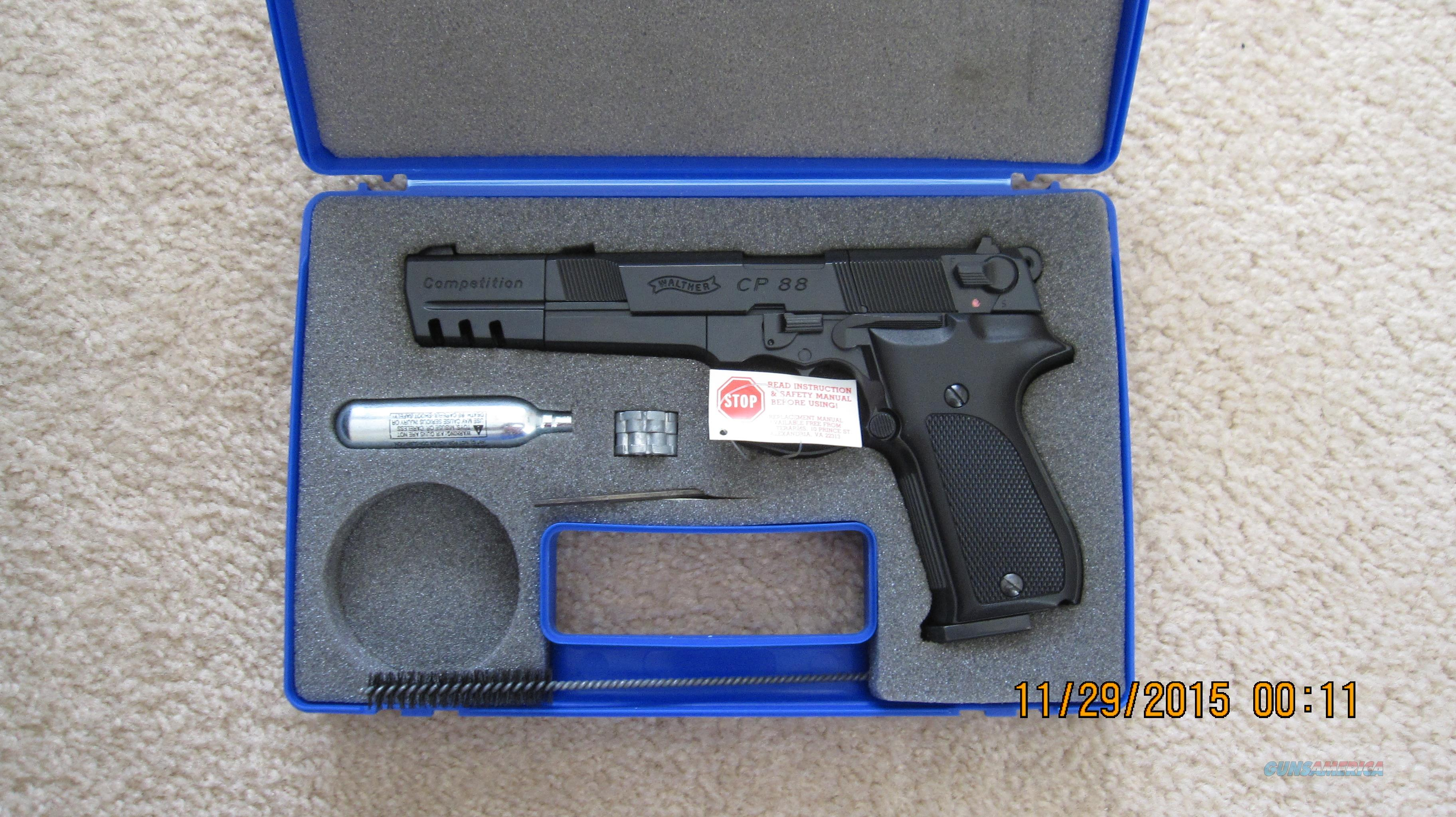 Walther CP88 Competition CO2 Pistol Cal .177 Interarms  Non-Guns > Air Rifles - Pistols > CO2 Pistol