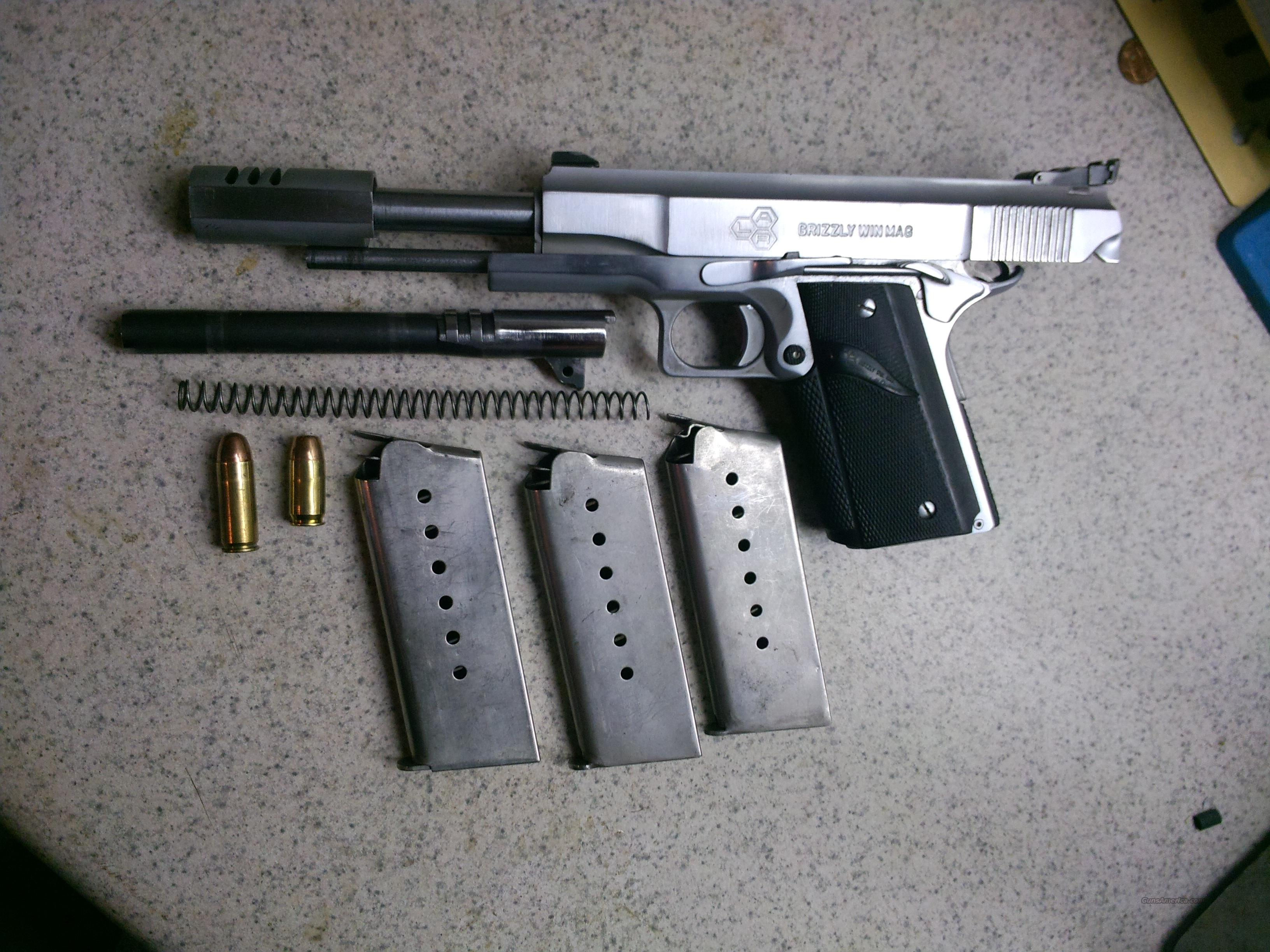 LAR .45 Win Mag  Grizzly W/ 45acp conversion  Guns > Pistols > LAR/Grizzly Mfg. Co. Pistols