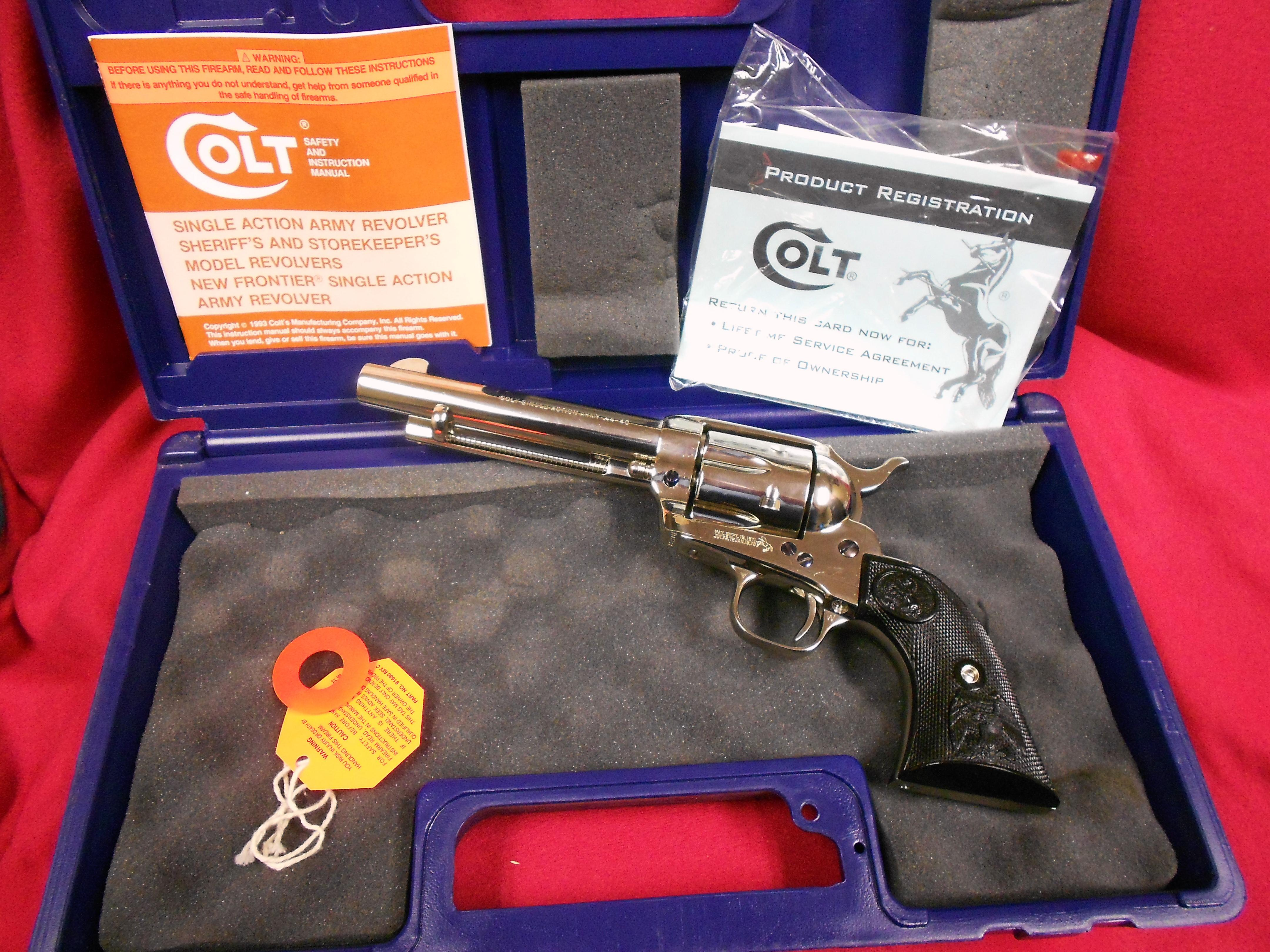 Colt Single Action Army 44-40  Guns > Pistols > Colt Single Action Revolvers - 3rd Gen.