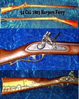 Harpers Ferry 54 Caliber Flintlock Rifle  Guns > Rifles > Muzzleloading Replica Rifles (flint)