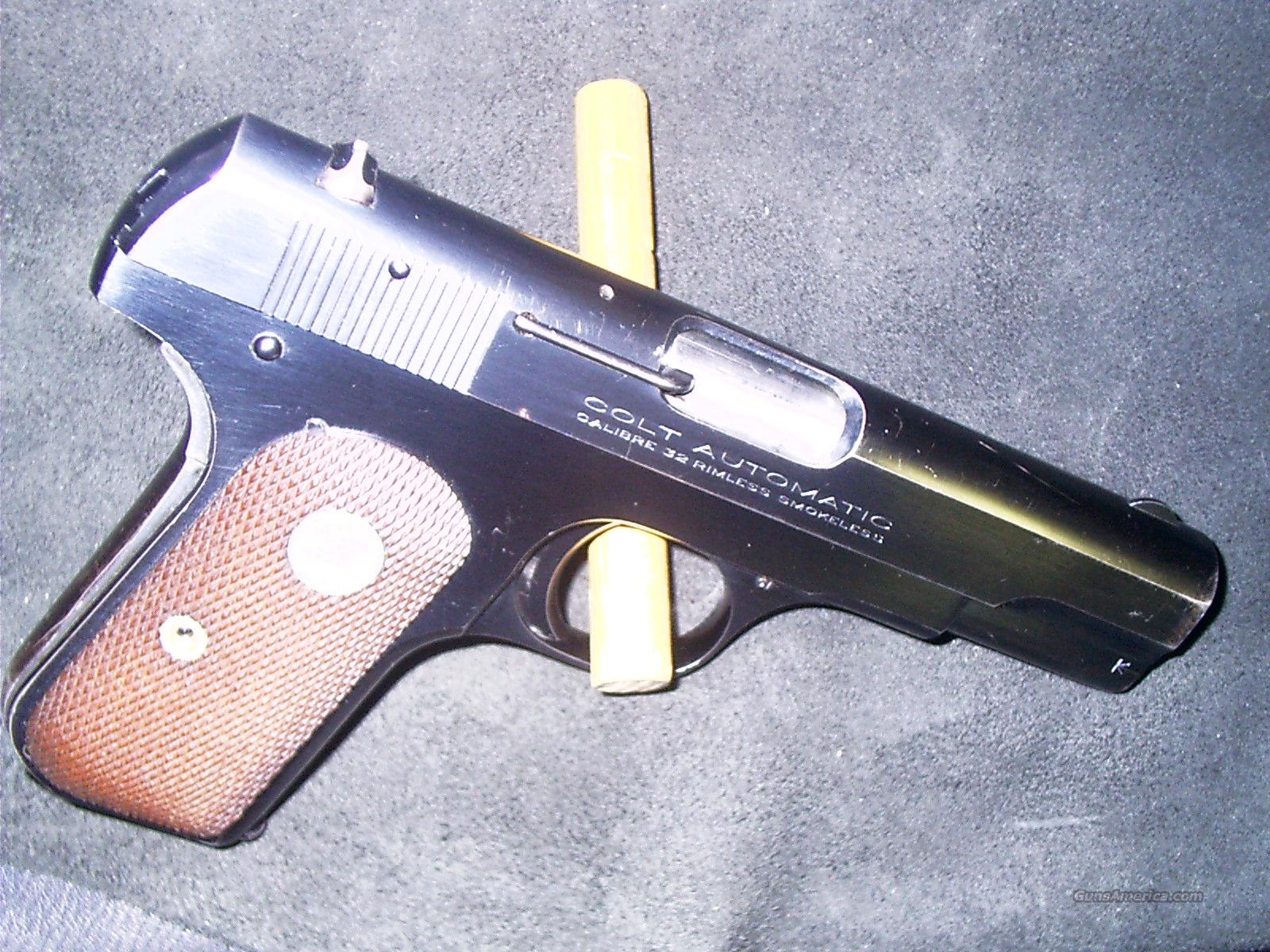 COLT 1903 POCKET .32 RIMLESS SMOKELESS  Guns > Pistols > Colt Automatic Pistols (.25, .32, & .380 cal)