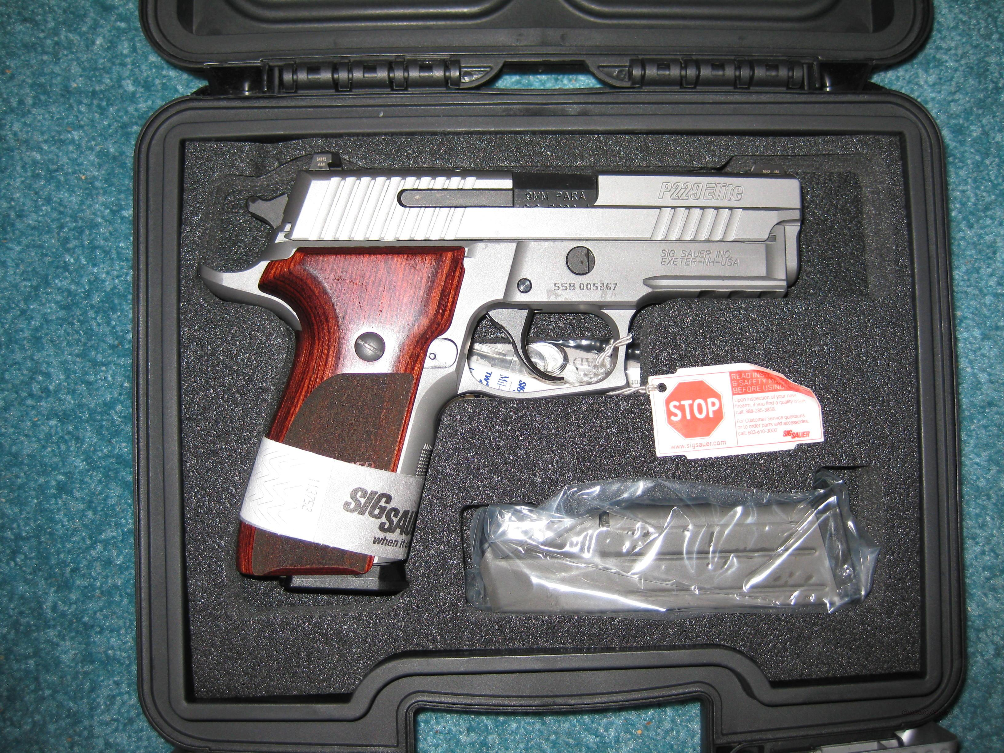 NEW SIG P229 ELITE STAINLESS 9MM  Guns > Pistols > Sig - Sauer/Sigarms Pistols > P229