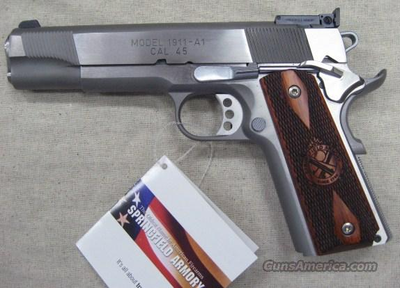 "Springfield 1911-A1 45ACP PI9132LP Loaded Target Stainless Steel 5"" New in the Box  Guns > Pistols > Springfield Armory Pistols > 1911 Type"