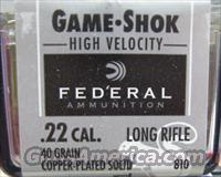 Federal 22lr 40Gr Copper Plated High Velocity  810  Non-Guns > Ammunition