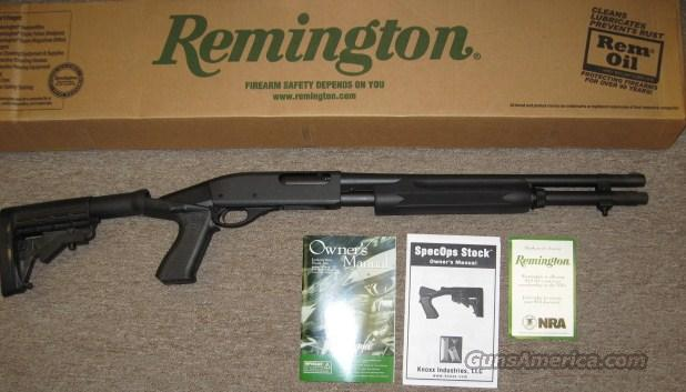 "Remington 870 20Ga with 2 shot Ext and Knoxx Spec-Ops Stock 18"" Bbl 81180 New  Guns > Shotguns > Remington Shotguns  > Pump > Tactical"