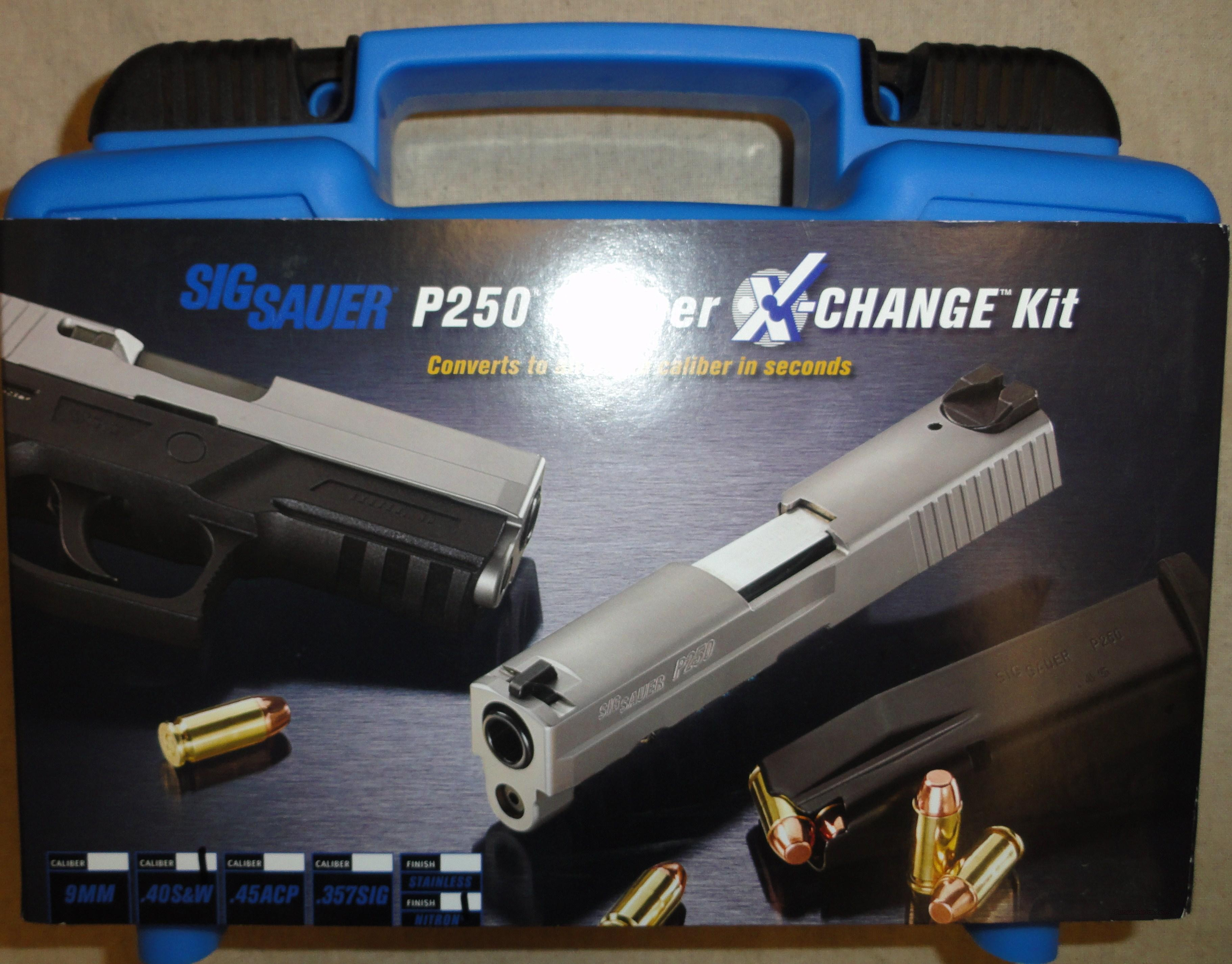 Sig P250 Compact Upgrade Kit 40 S&W 1300107 New CALX-250C-40-BSS  Non-Guns > Gun Parts > Misc > Pistols