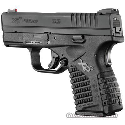 Springfield XDS 45ACP Slim Black XDS93345B New in box   Guns > Pistols > Springfield Armory Pistols > XD-S
