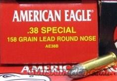 Federal American Eagle 38 Special 158Gr Lead Round Nose New AE38B  Non-Guns > Ammunition