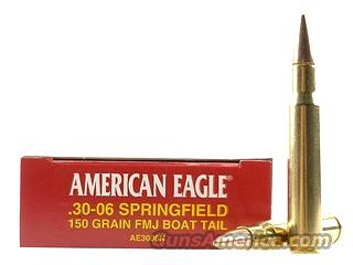 Federal American Eagle 30-06 Springfield 150 Gr FMJ BT AE3006N New 100 Rounds 5 Boxes  Non-Guns > Ammunition