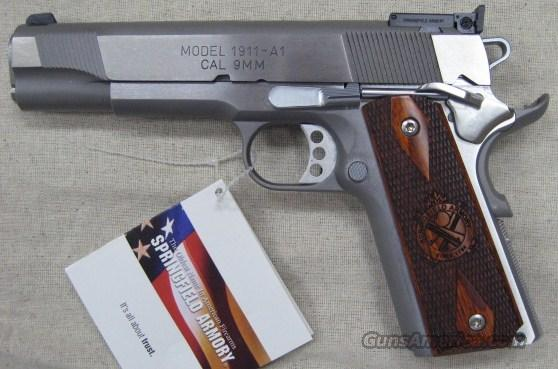 "Springfield 1911-A1 9MM Stainless 5"" Target Loaded New PI9134LP Made in USA  Guns > Pistols > Springfield Armory Pistols > 1911 Type"