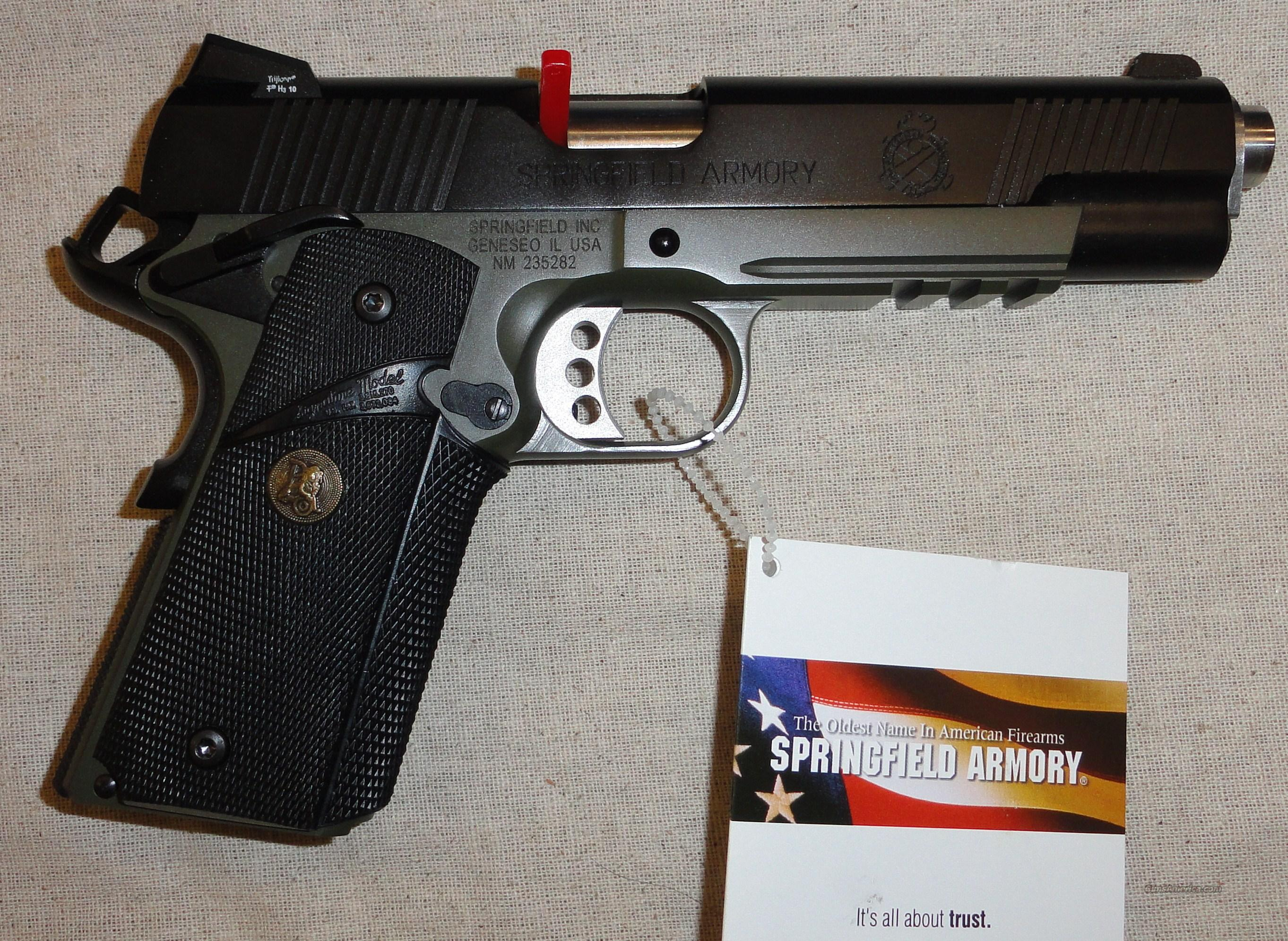 "Springfield Loaded Operator 5"" OD-MARINE CORPS OK FOR CA 45ACP PX9105MLP New USA  Guns > Pistols > Springfield Armory Pistols > 1911 Type"