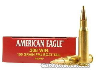 Federal American Eagle 308 Win. 150 Gr FMJ BT AE308D New   Non-Guns > Ammunition