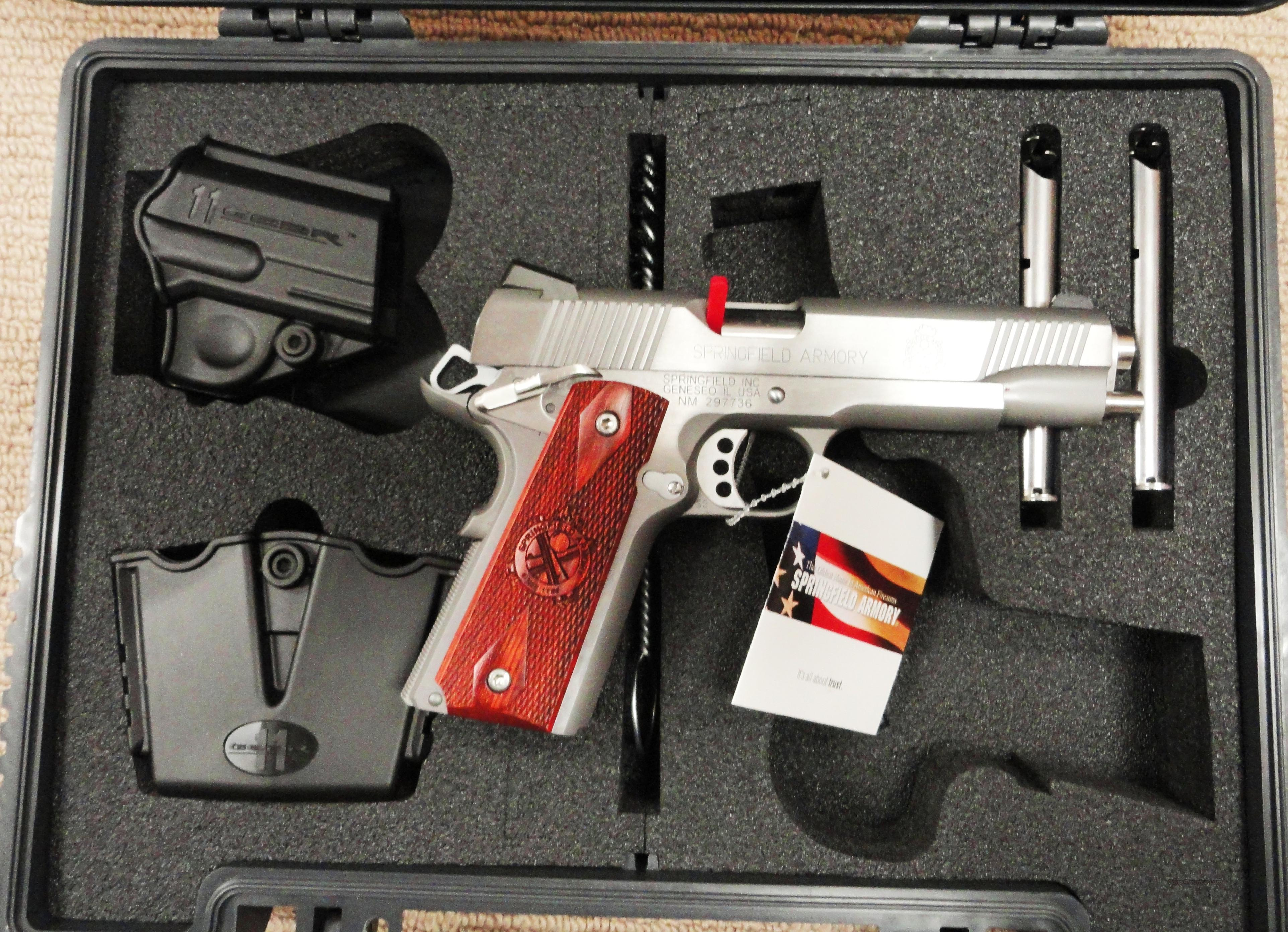 "Springfield 1911A1 45acp Custom Loaded 5"" Stainless PX5151LP New  Guns > Pistols > Springfield Armory Pistols > 1911 Type"