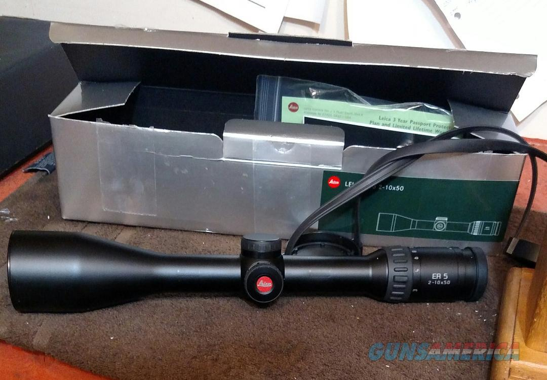Lieca 2.5-10x50  30mm ER5  Non-Guns > Scopes/Mounts/Rings & Optics > Rifle Scopes > Variable Focal Length