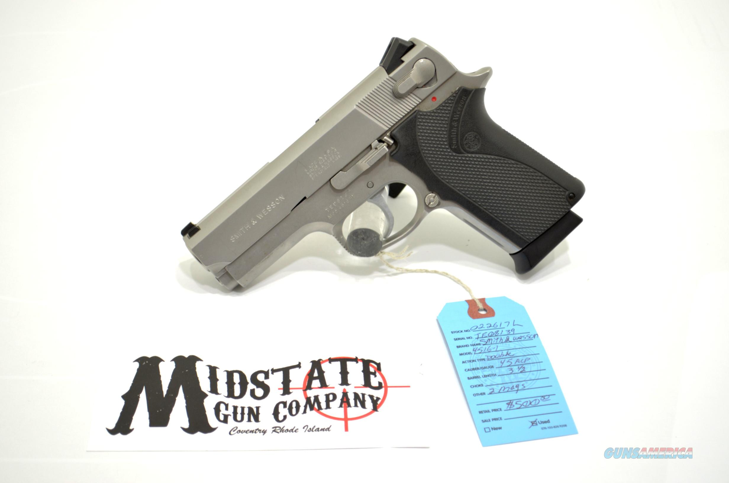 Smith & Wesson 4516-1 .45acp pistol  Guns > Pistols > Smith & Wesson Pistols - Autos > Alloy Frame
