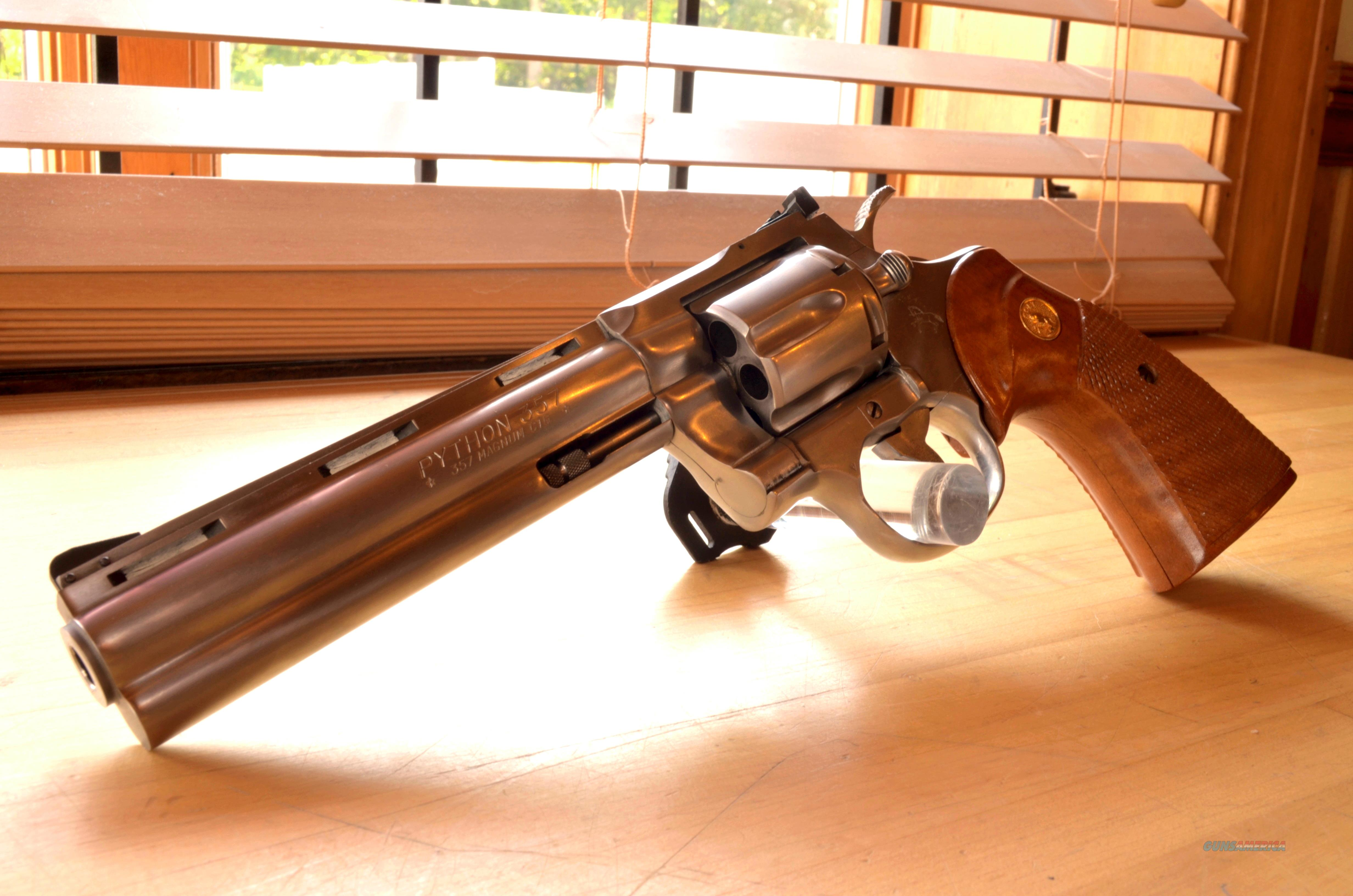 "USED Colt Python 6"" Stainless .357mag  Guns > Pistols > Colt Double Action Revolvers- Modern"
