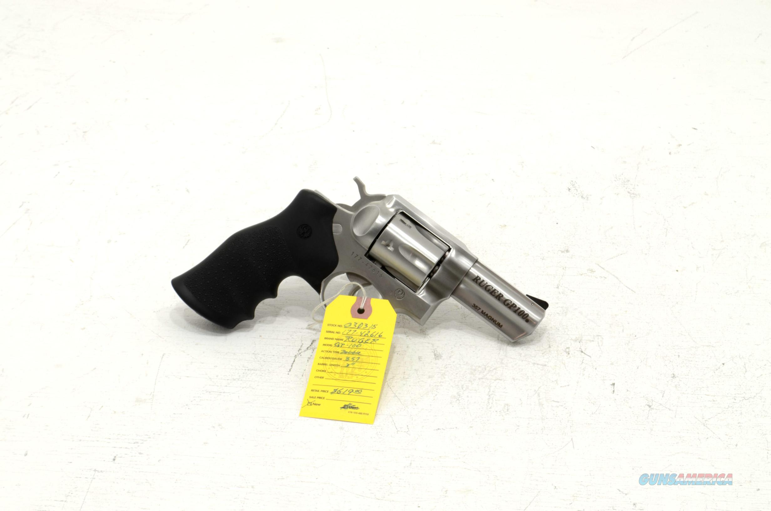 "New: Ruger GP100 .357magnum revolver 3"" barrel  Guns > Pistols > Ruger Double Action Revolver > GP100"