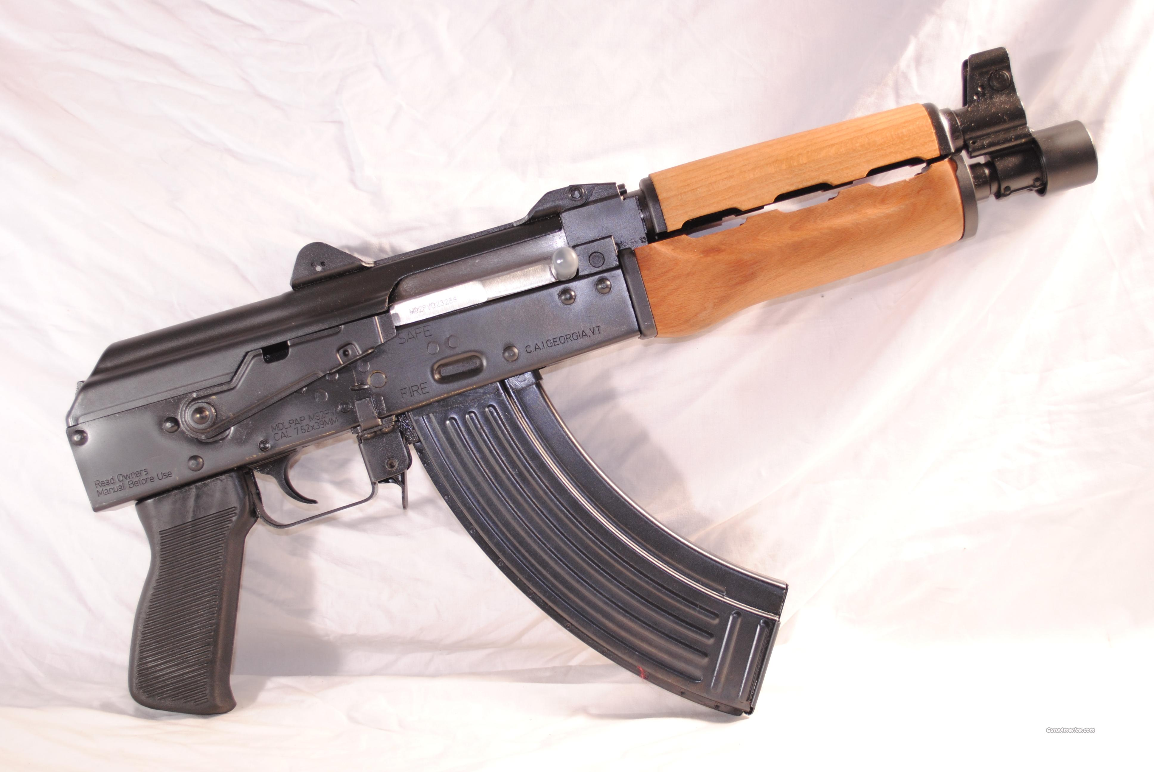 NEW! ZASTAVA PAP M92 PV AK PISTOL  Guns > Pistols > Century International Arms - Pistols > Pistols