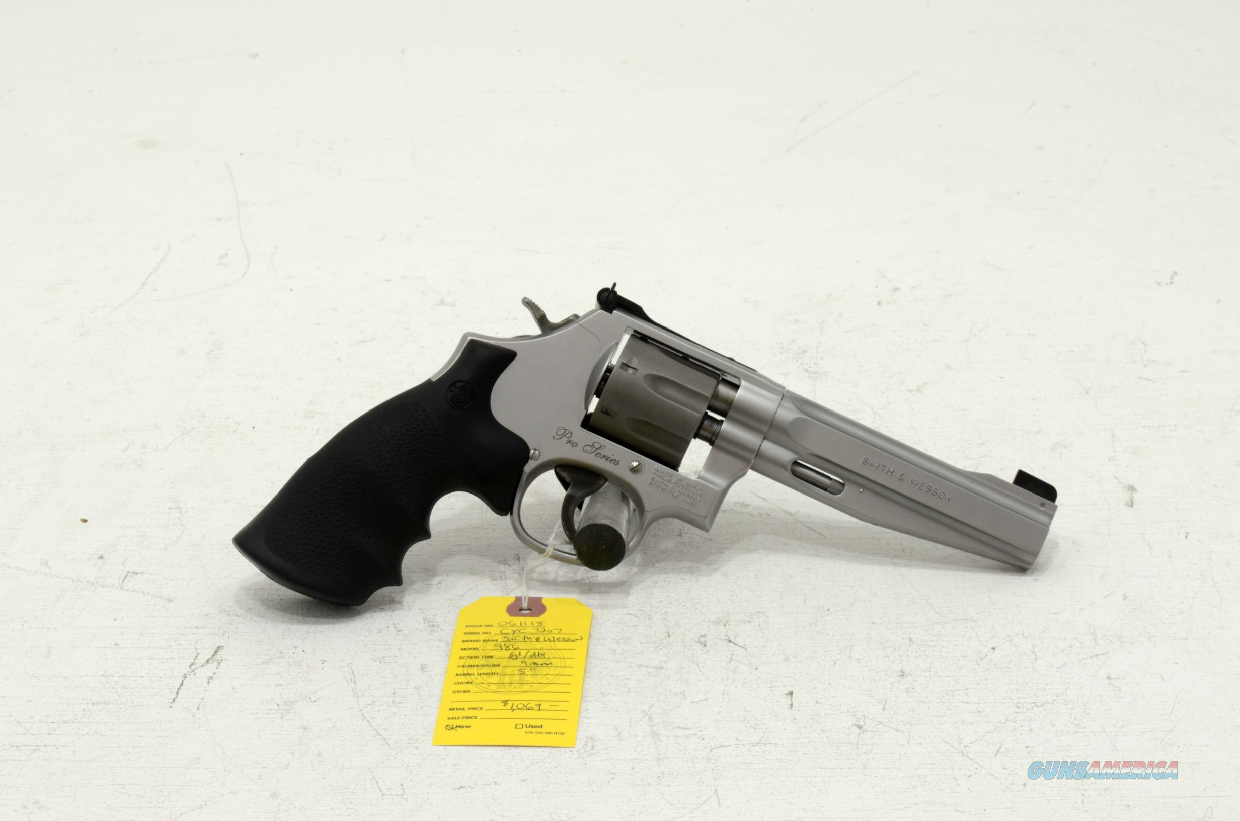 "New Smith & Wesson 986 Pro series 9mm 7 shot 5"" barrel  Guns > Pistols > Smith & Wesson Revolvers > Full Frame Revolver"