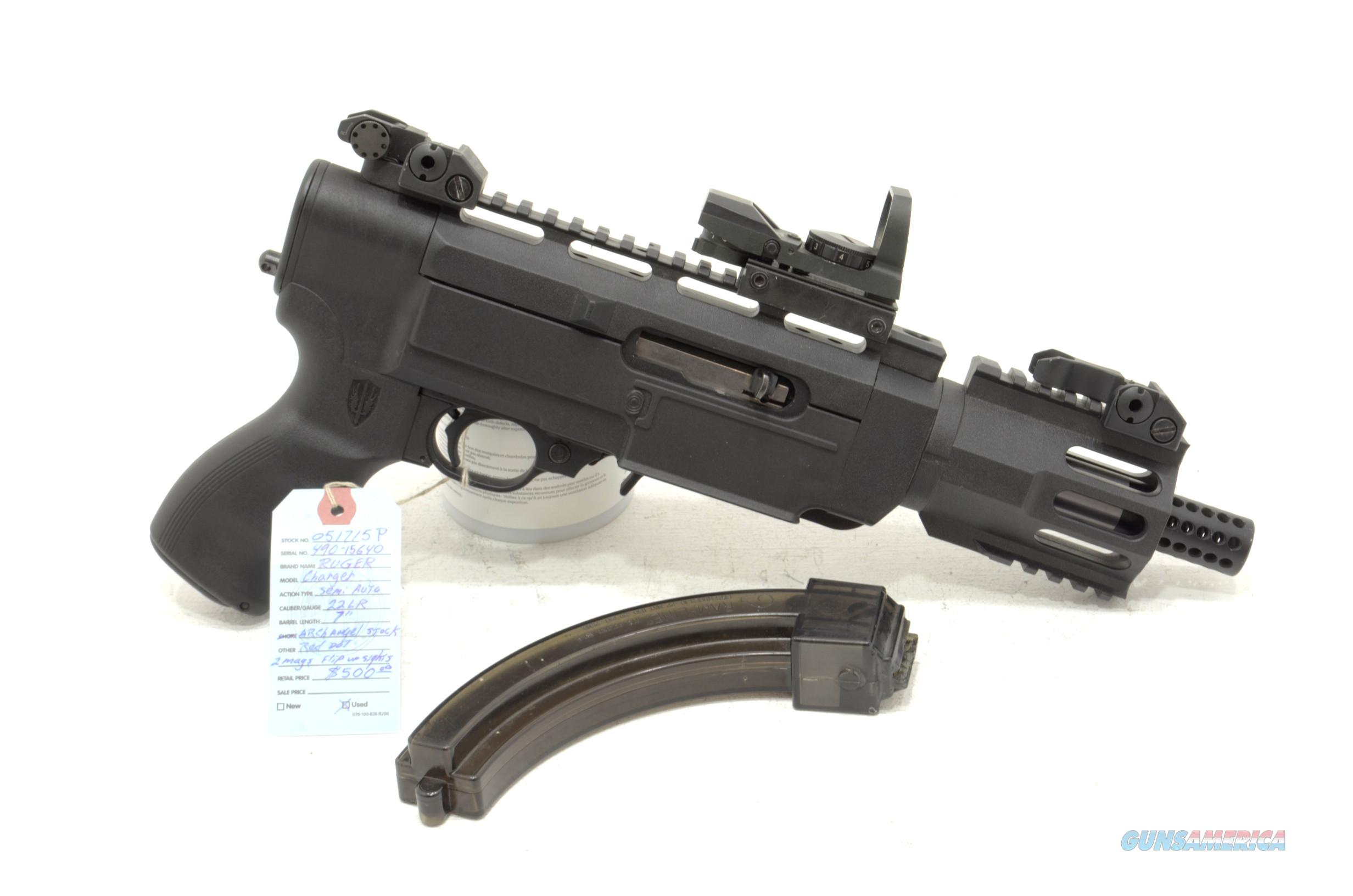 "Ruger 10/22 Charger .22lr pistol 7"" barrel Archangel  stock  Guns > Pistols > Ruger Semi-Auto Pistols > Charger Series"