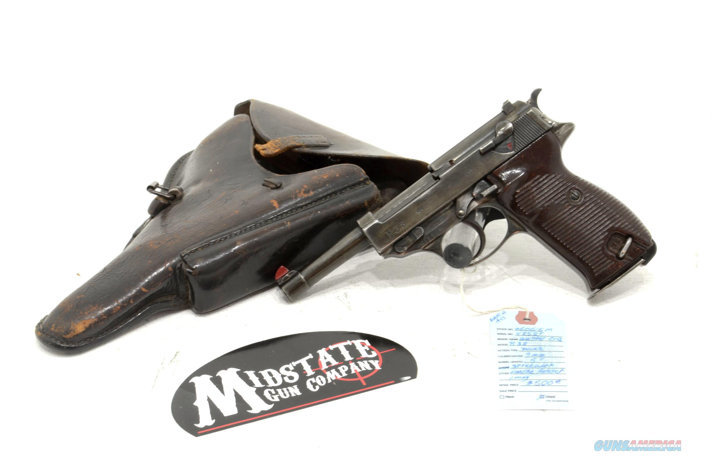 Walther CYQ P38 Spreewerk pistol 9mm, 1943 production  Guns > Pistols > Military Misc. Pistols Non-US