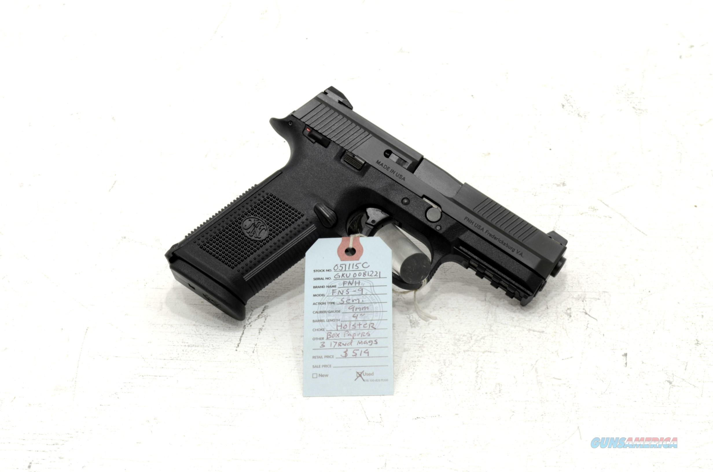 "FNH, FNS 9mm pistol 4"" barrel  Guns > Pistols > FNH - Fabrique Nationale (FN) Pistols > FNS"