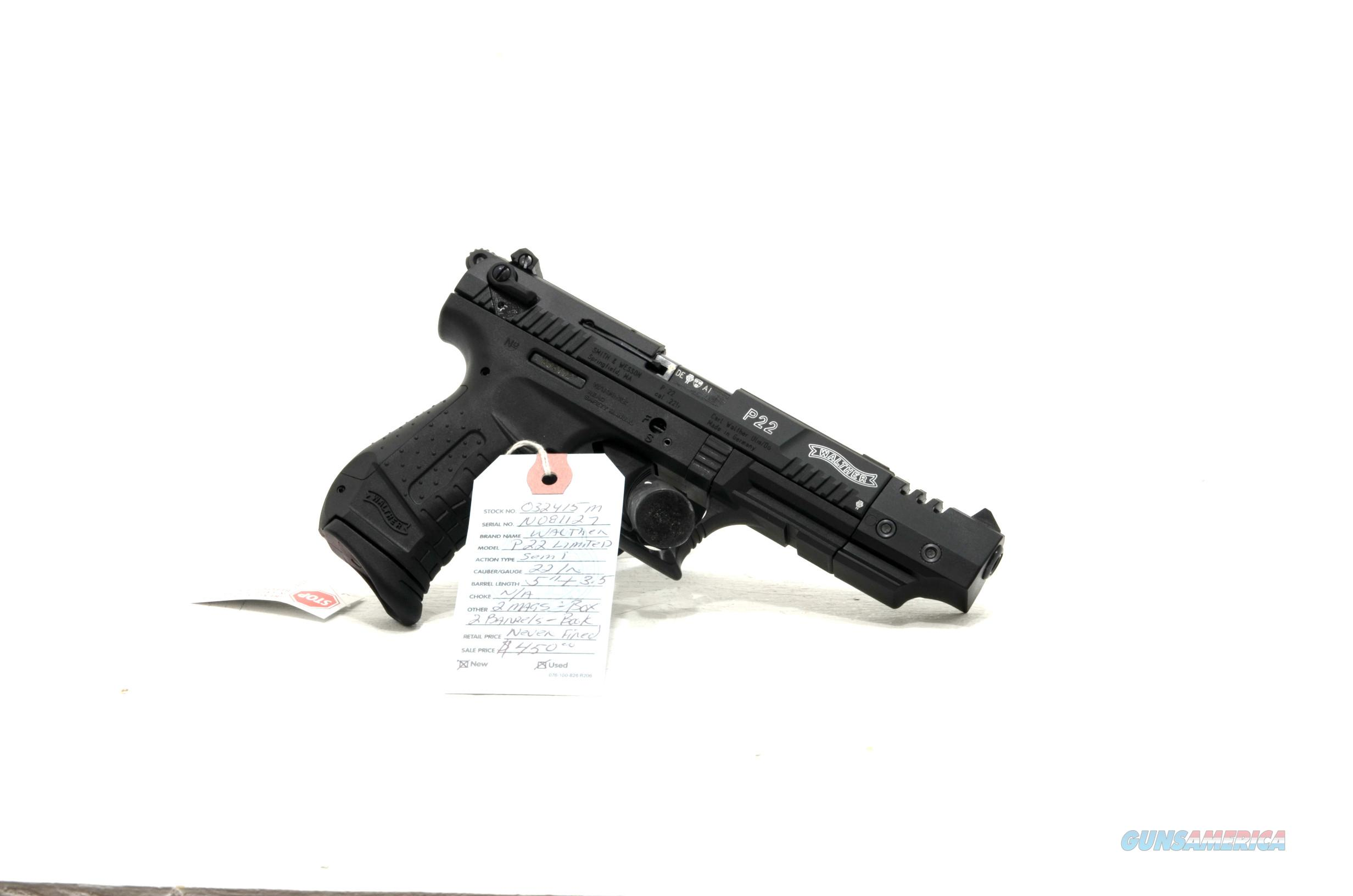 "Walther P22 ""Limited Edition"" .22lr pistol with 5"" and 3.5"" barrels  Guns > Pistols > Walther Pistols > Post WWII > P22"